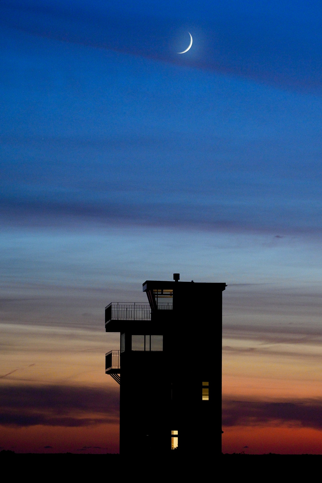 Sunset new moon by MarkBrooks