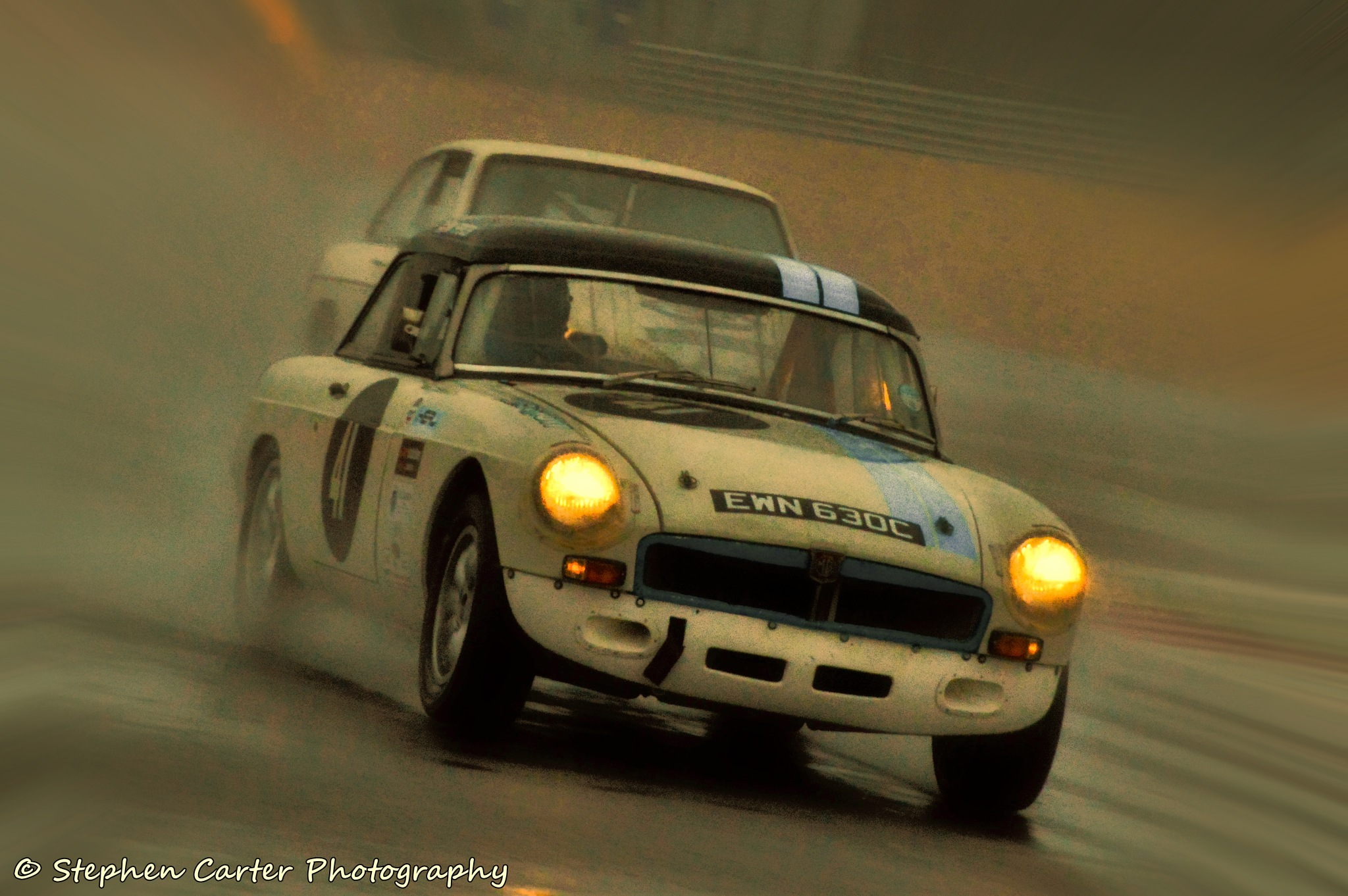MGB in the rain by Stephen Carter Photography