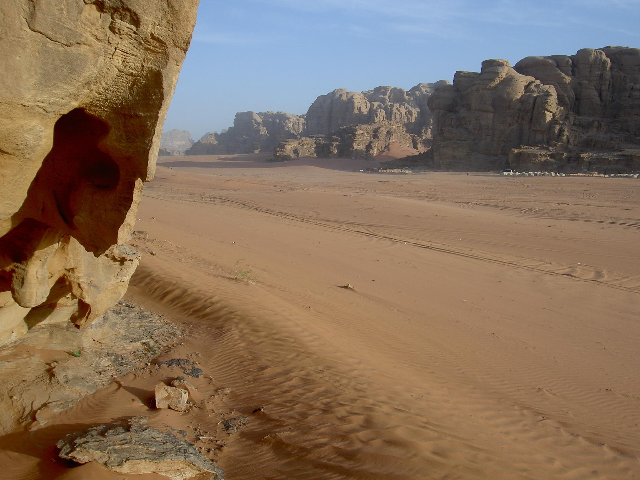 Photo in Landscape #jordan #wadi #desert #sand #hot #rock #valley #crag #landscape