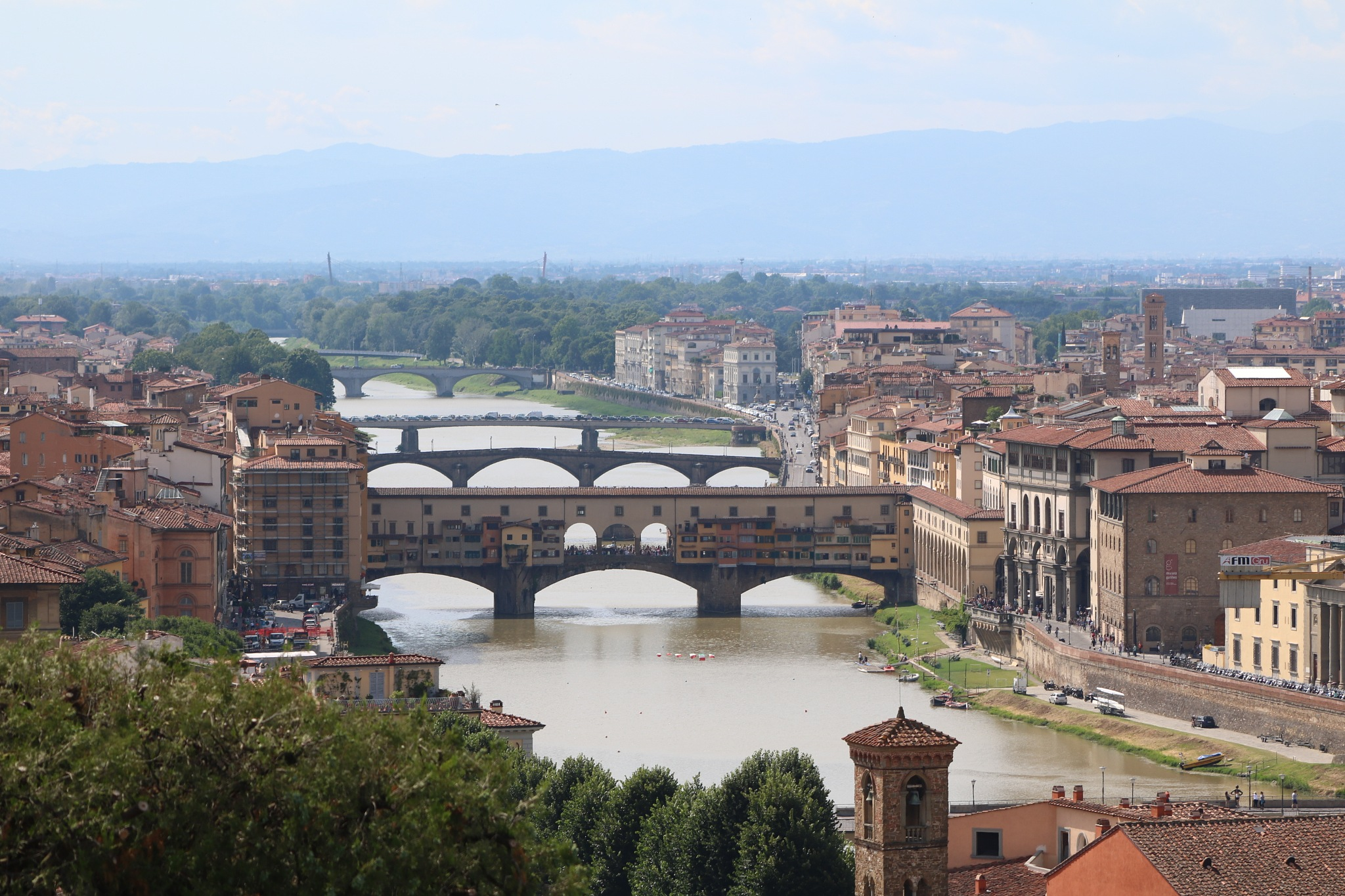 Florence from a viewpoint above the city. by Mo Dessouki