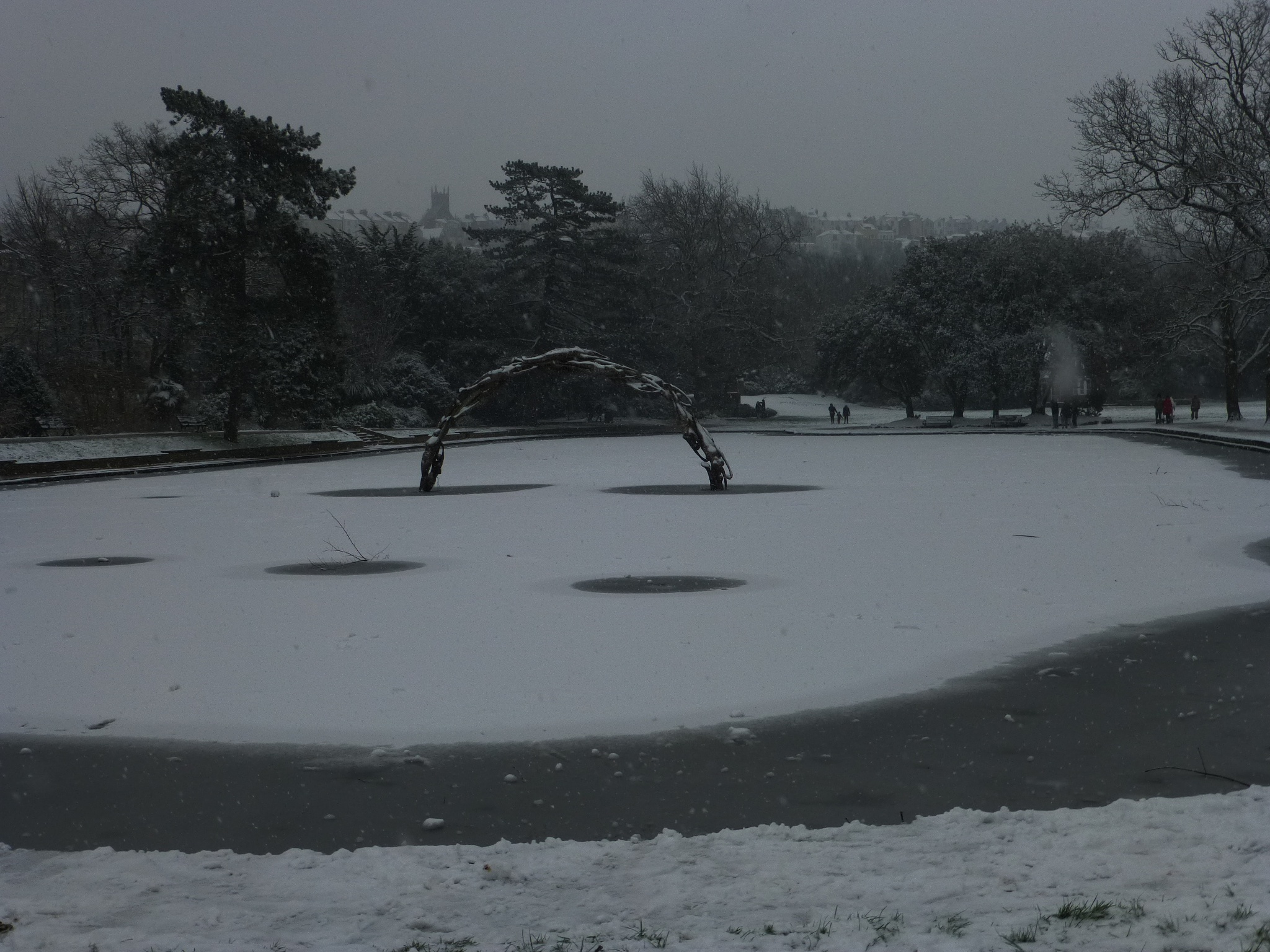 frozen pond in the park by Mo Dessouki