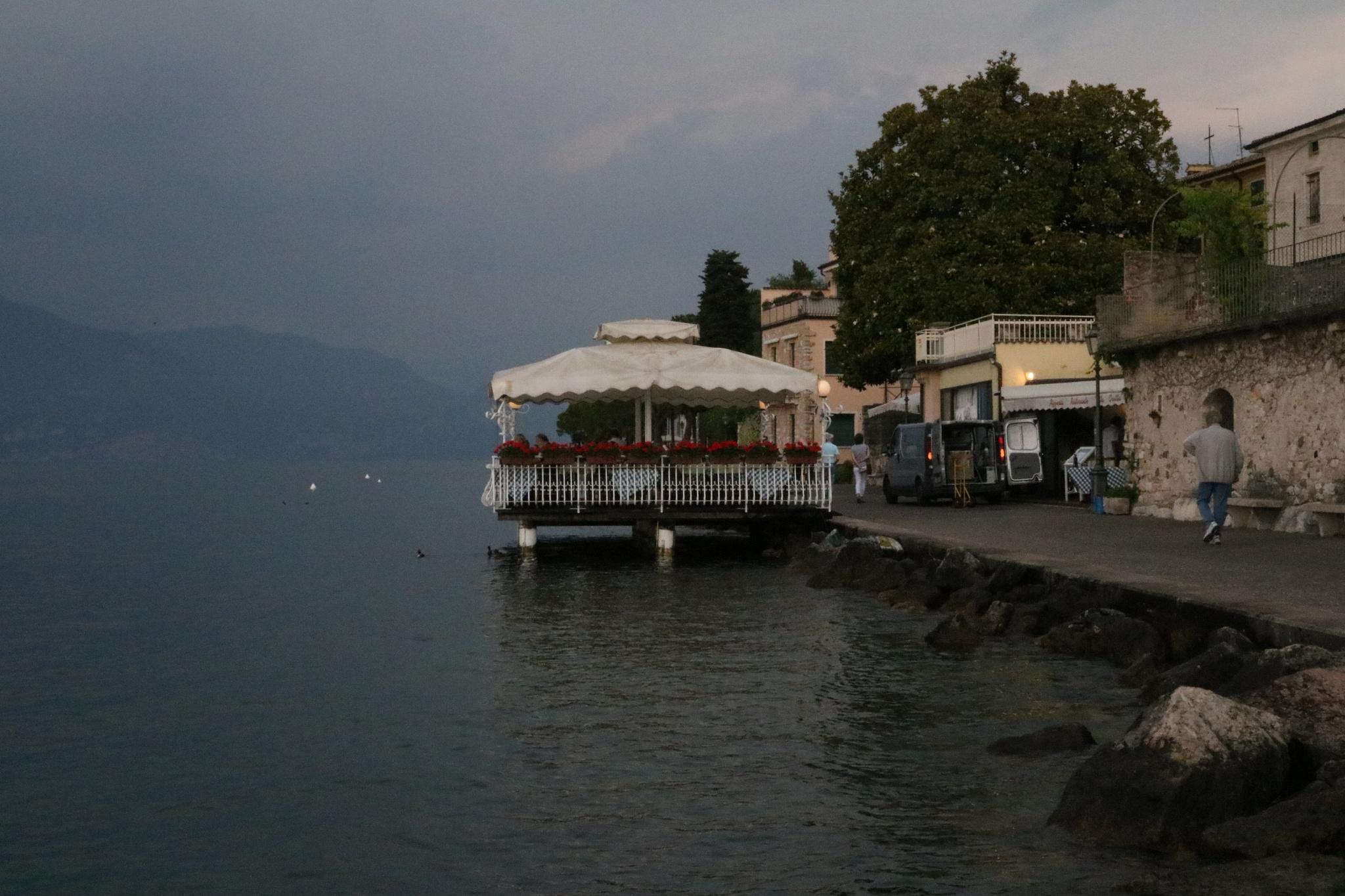 Floating Cafe, Lake Garda by Mo Dessouki