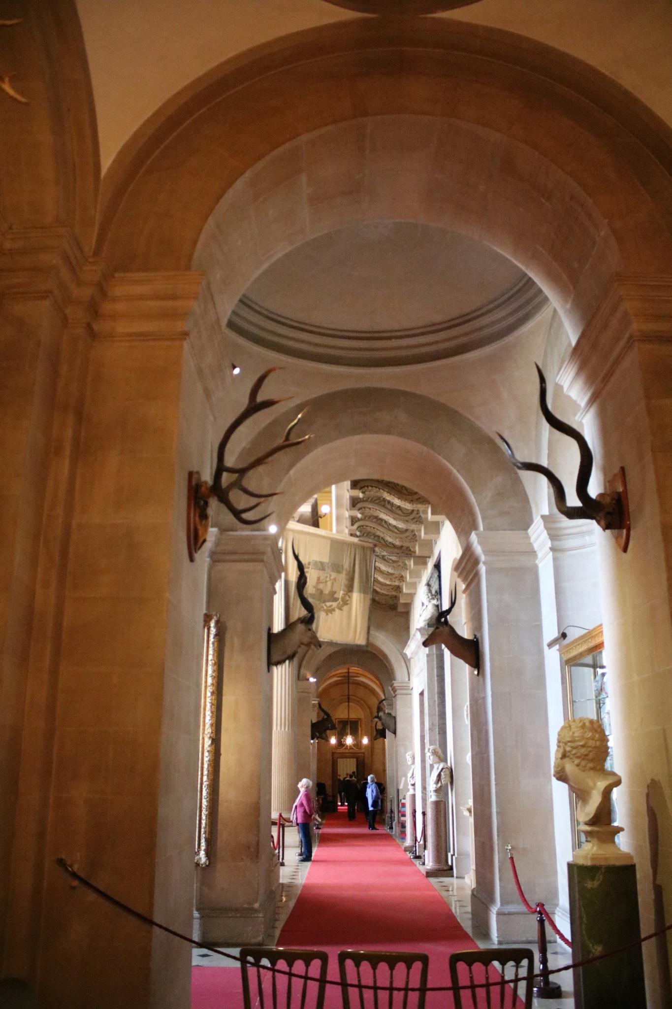 A corridor inside Blenhiem Palace by Mo Dessouki
