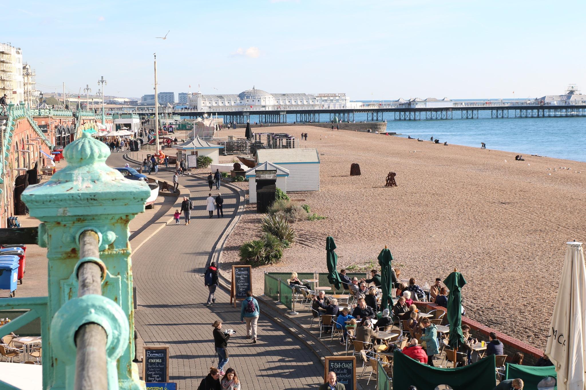 Brighton Pier & seafront by Mo Dessouki