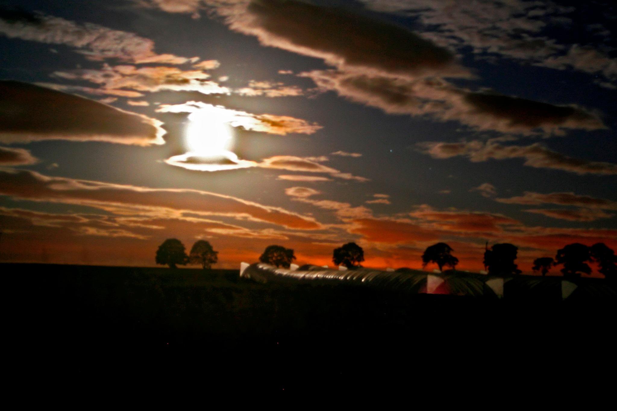 Harvest moon by Nick Birch