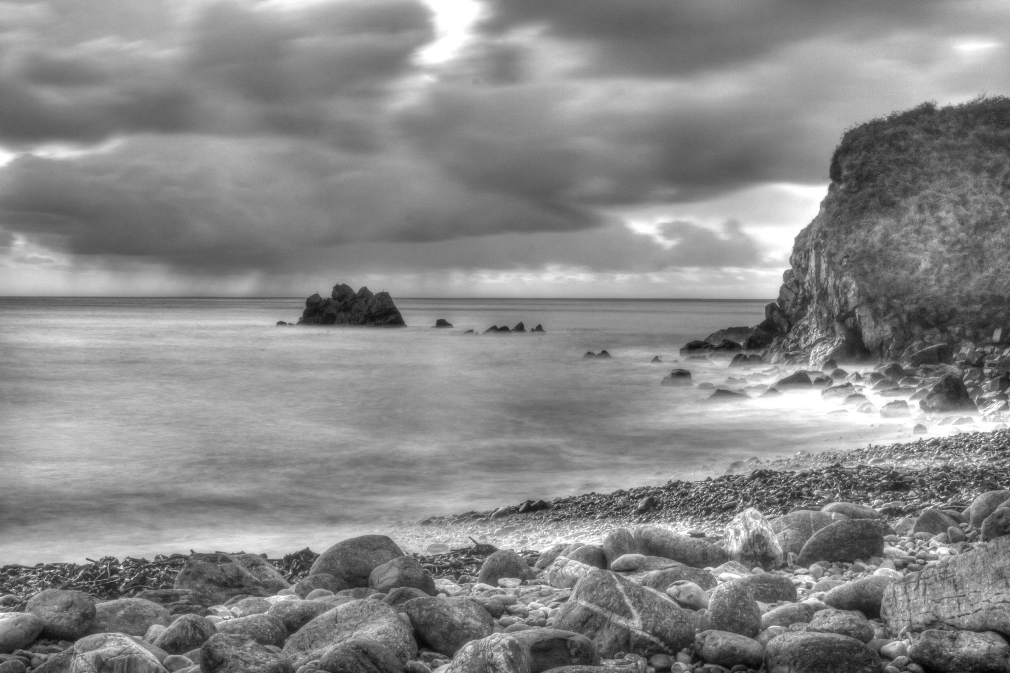Coast in B&W by Steve Rowe