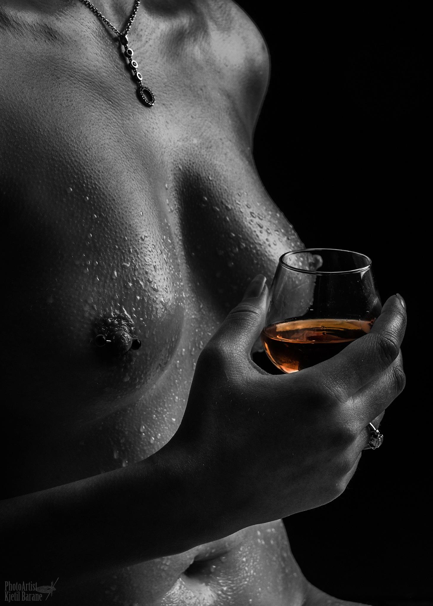 Late night cognac by Kjetil Barane