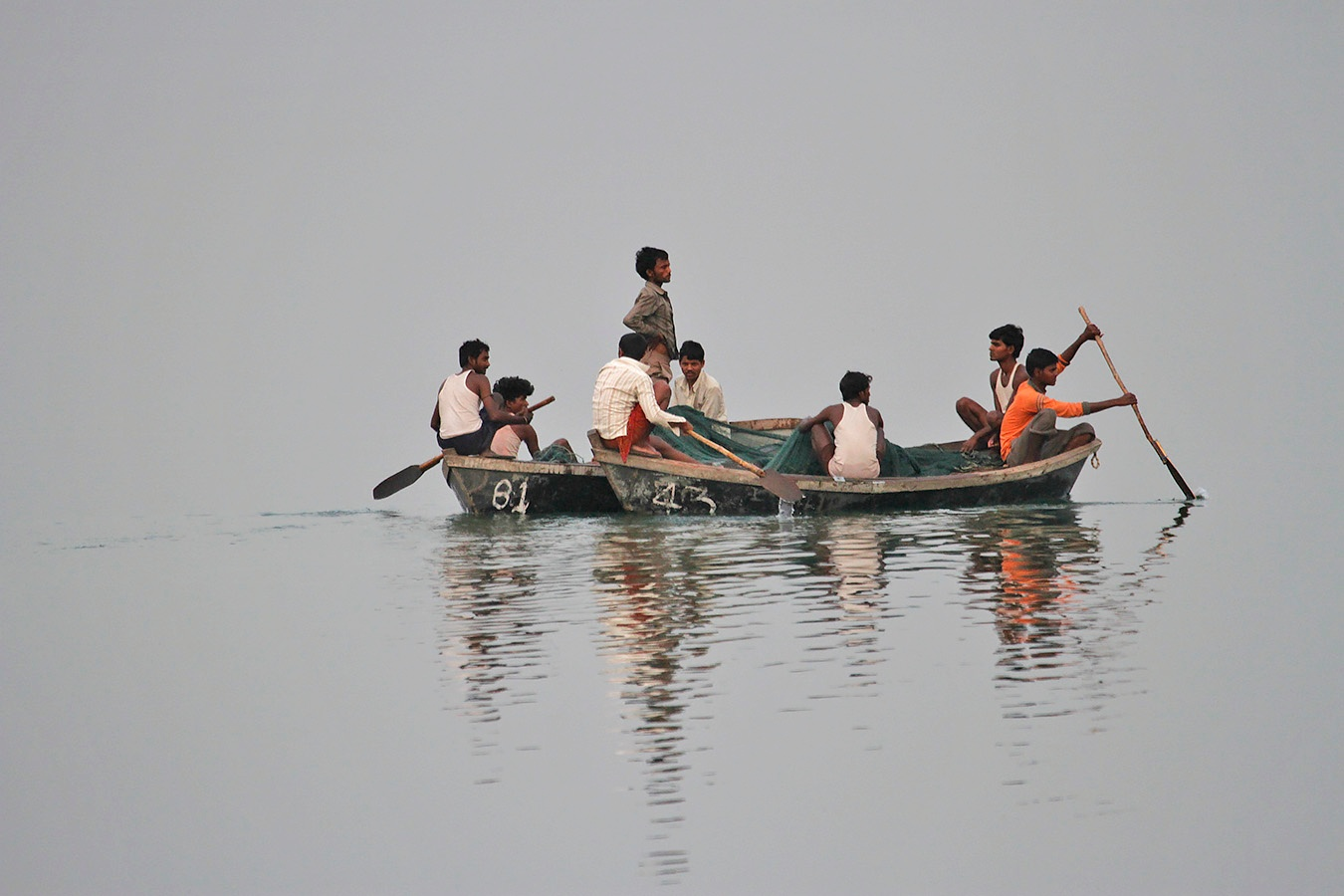 Fishermen by Ravinarayana Chakravarthy