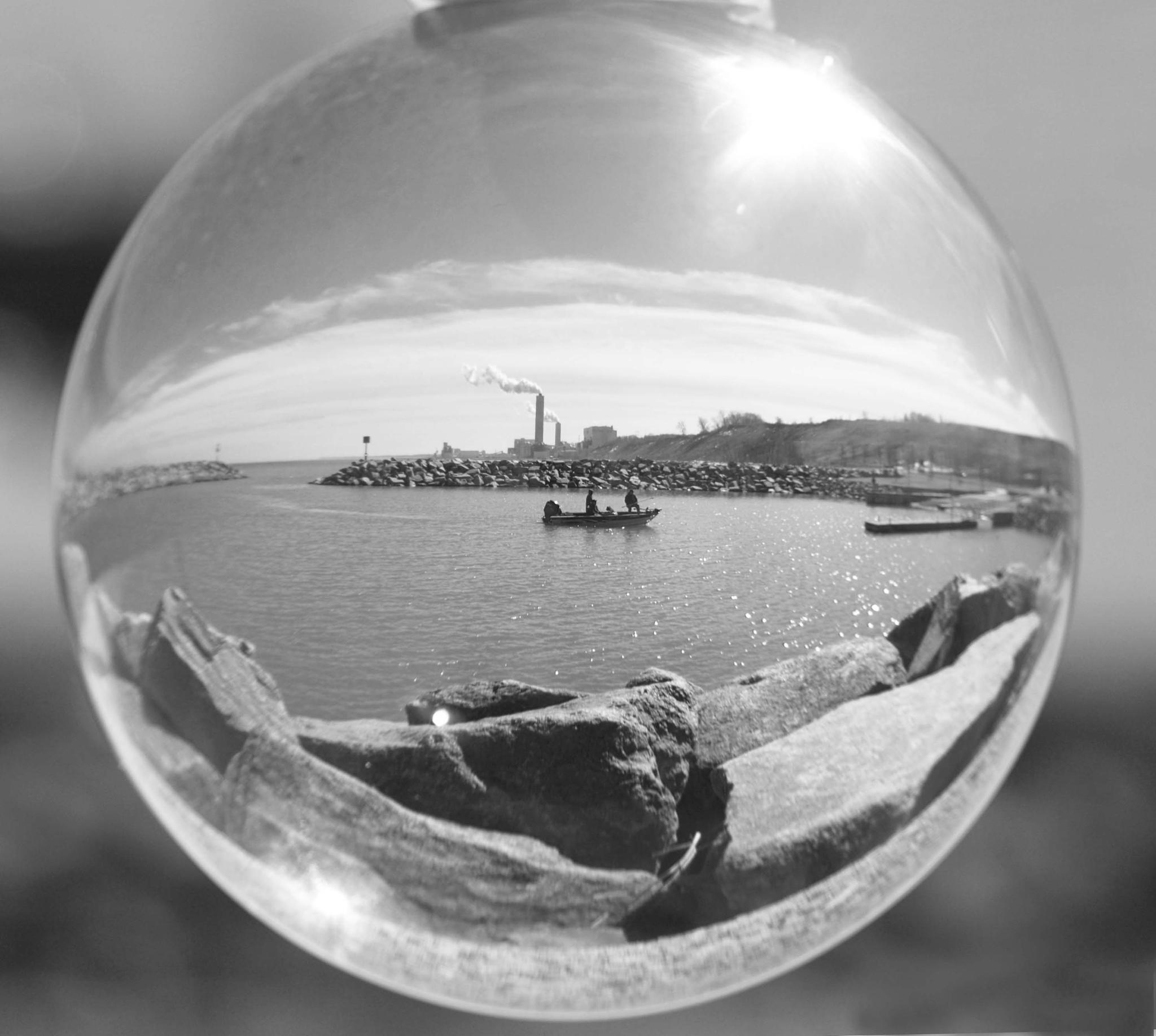 Boat in a bubble by Christine Grubbs