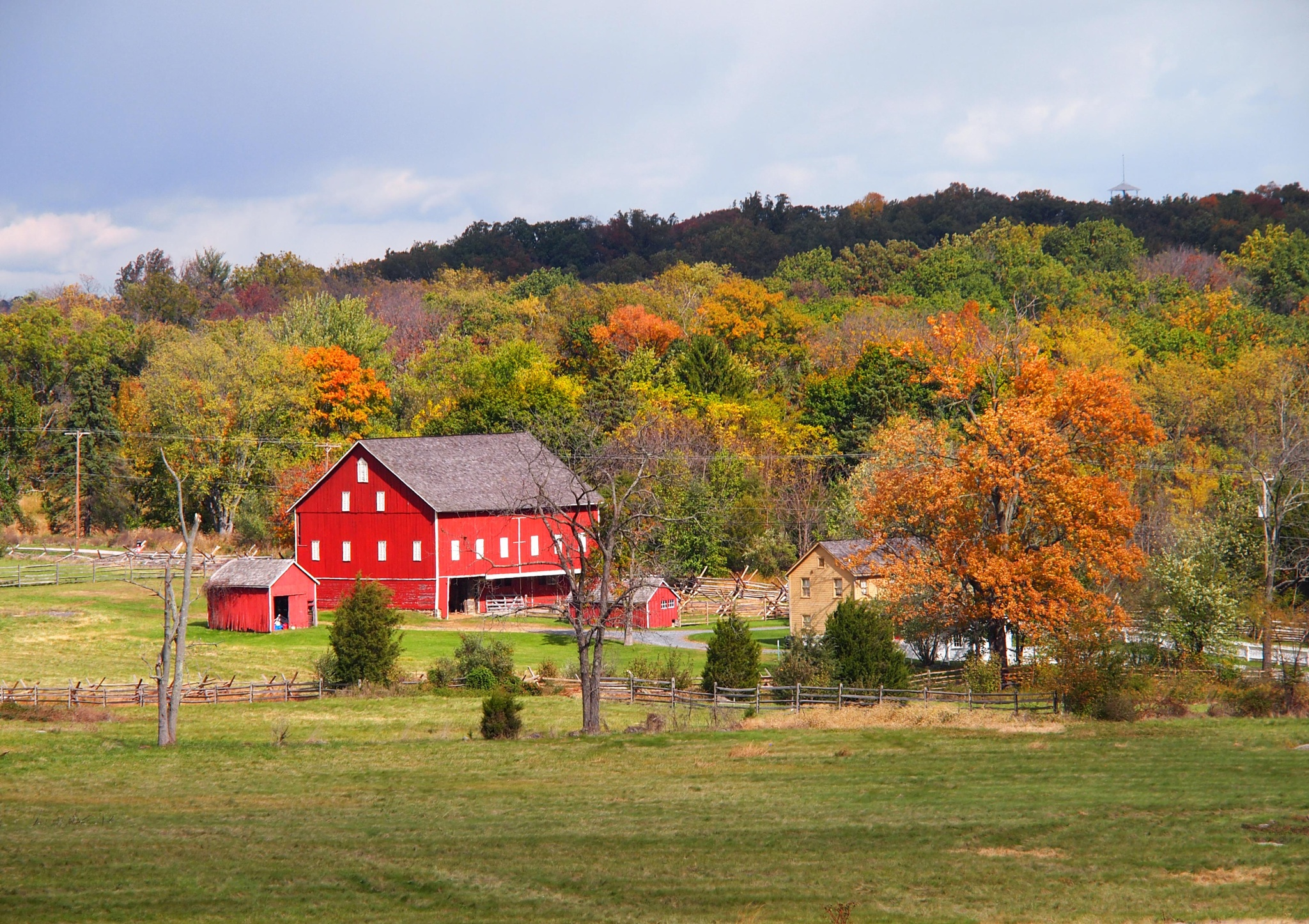 Farm on Gettysburg National Battleground by Christine Grubbs