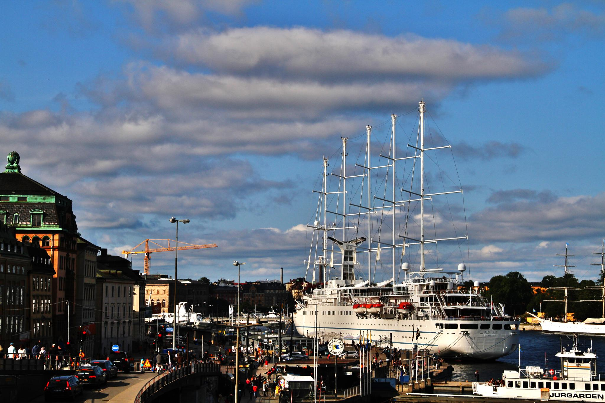 Photo in Cityscape #ship #tall ship #five masts #habour