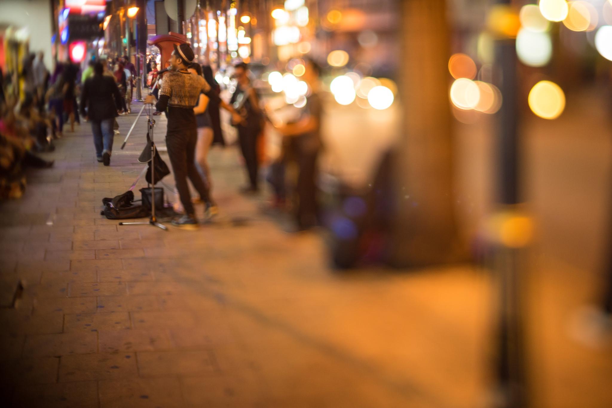 Street Performer + Street Bokeh by Md Aziman