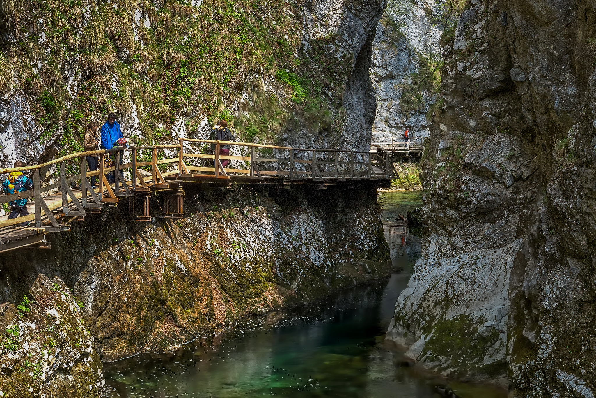Into Vintgar gorge by Bor Rojnik
