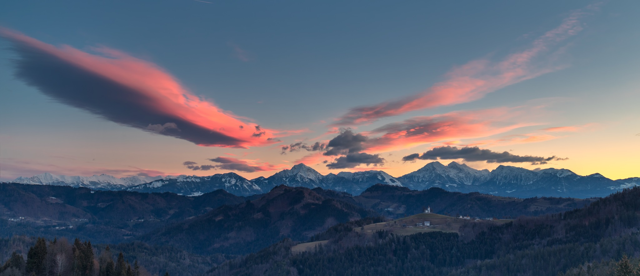 Photo in Landscape #clouds #landscape #morning #colorful #alps #hiking