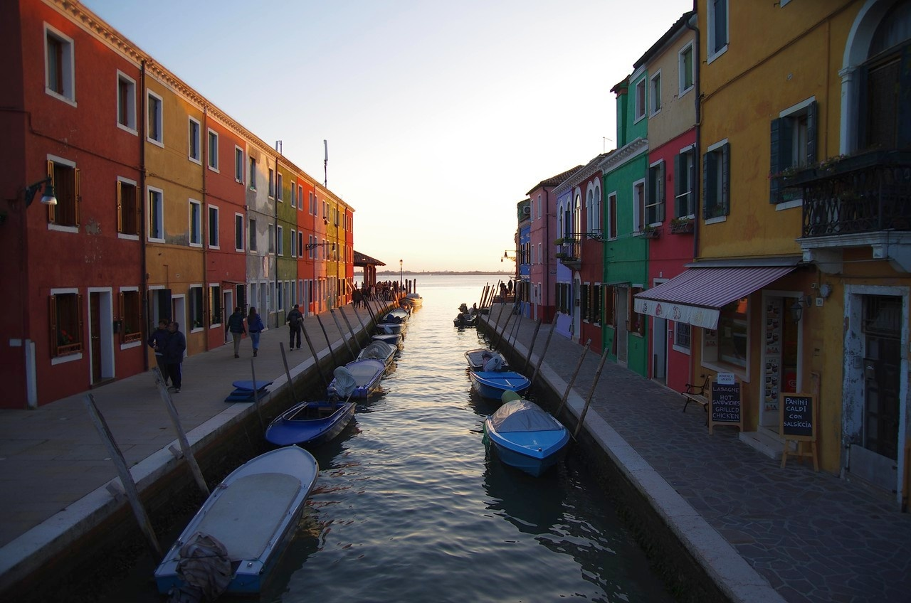Burano- End of the Road/ Burano Italy by EdwardStern