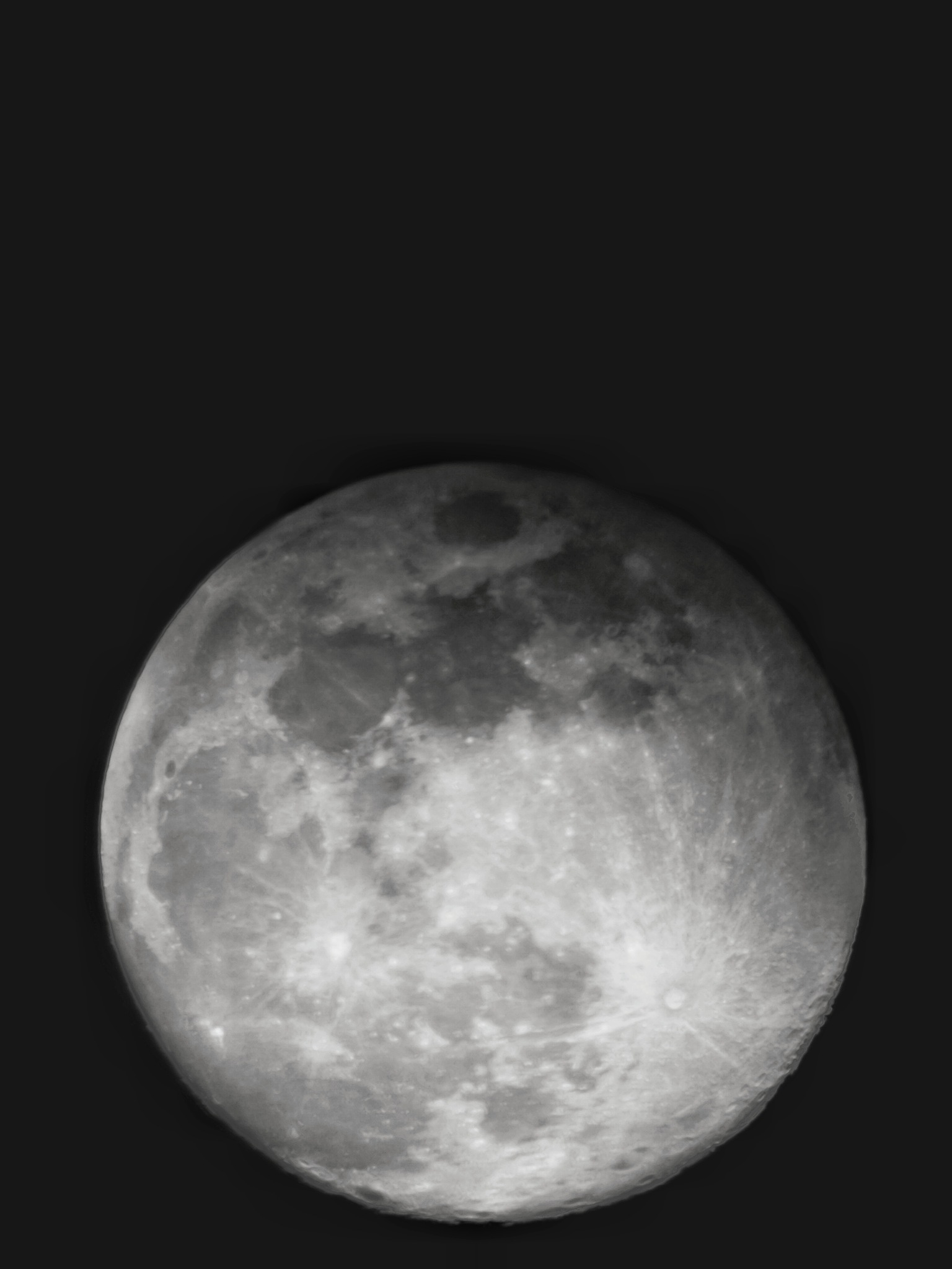 Shoot the moon with astronomical telescope and mobile phone 2 by leocary