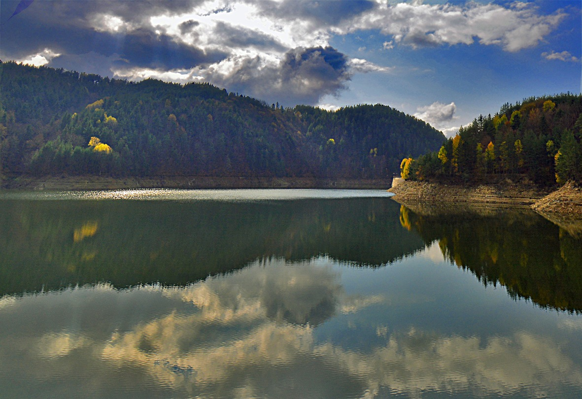 Photo in Landscape #lake #water #sky #reflection #clouds #mountain