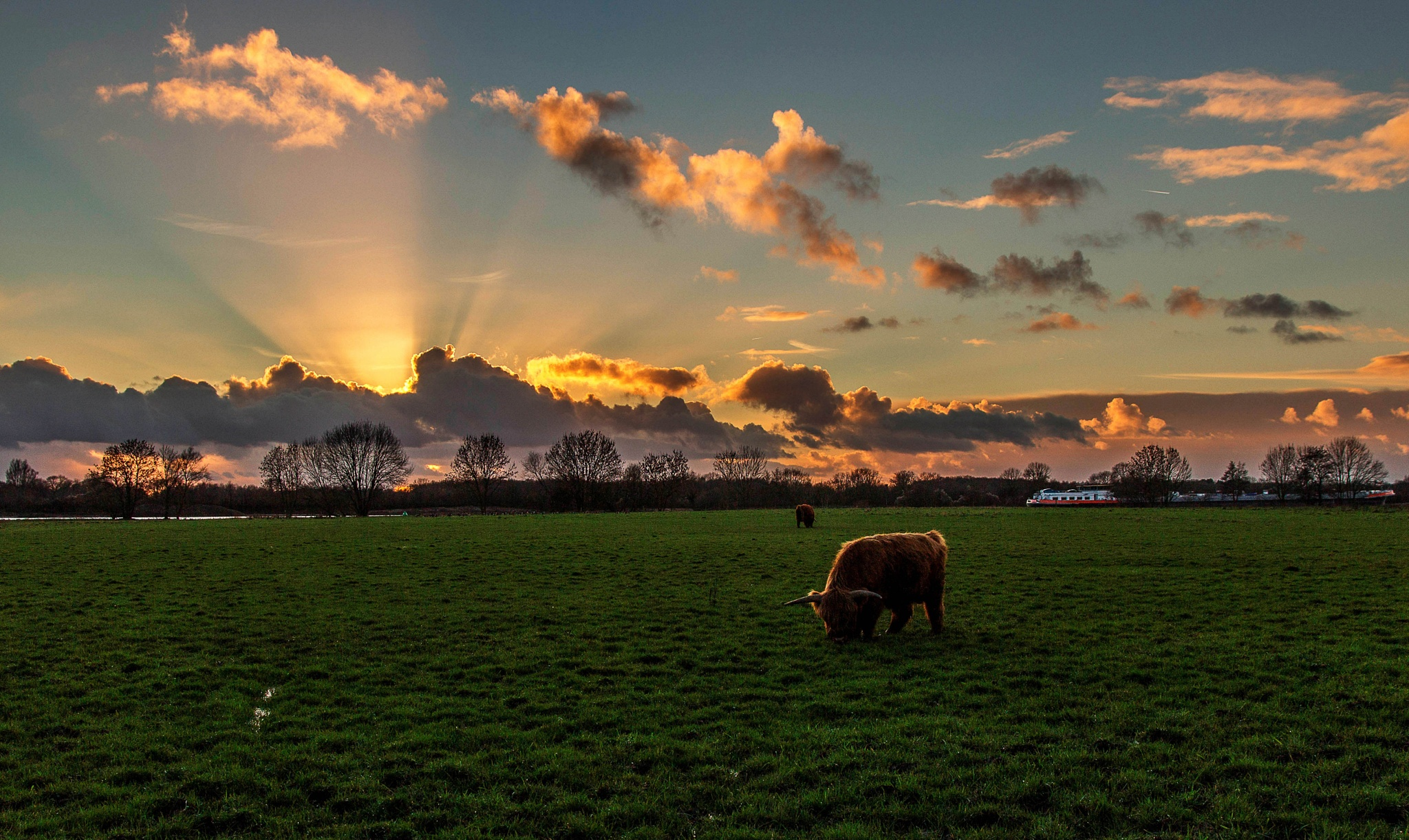 Sunset by Theo Hermsen