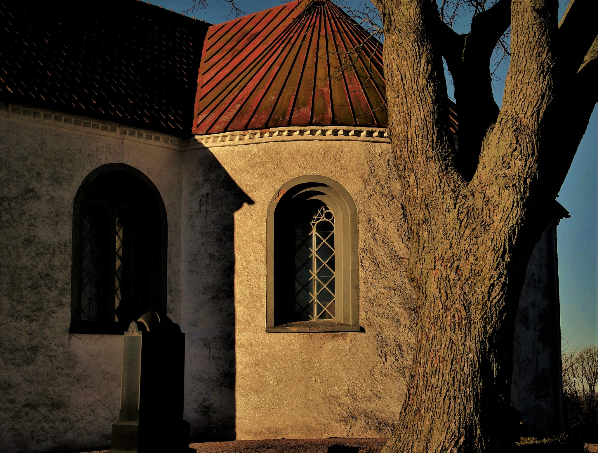 A Church and a Tree. by KerstinP.