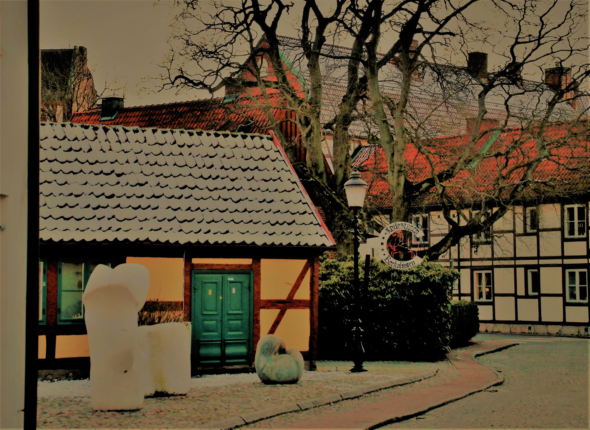 One of the small streets in my Hometown Ystad. by KerstinP.