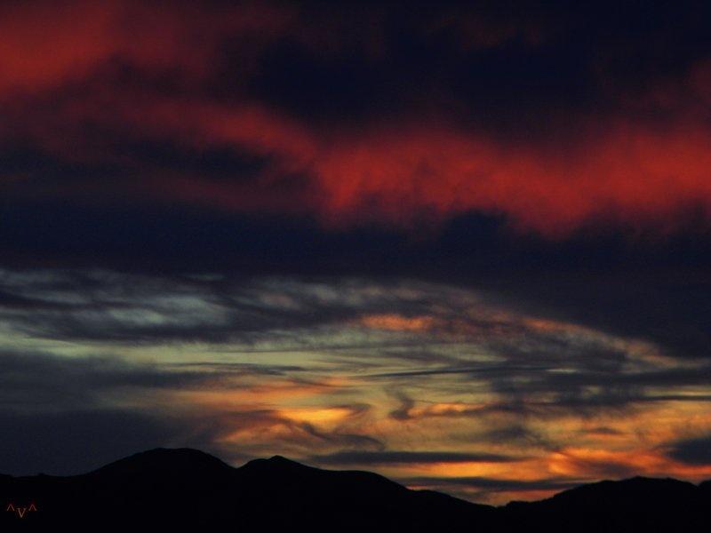 Busy Sunset by Alan Wertsbaugh