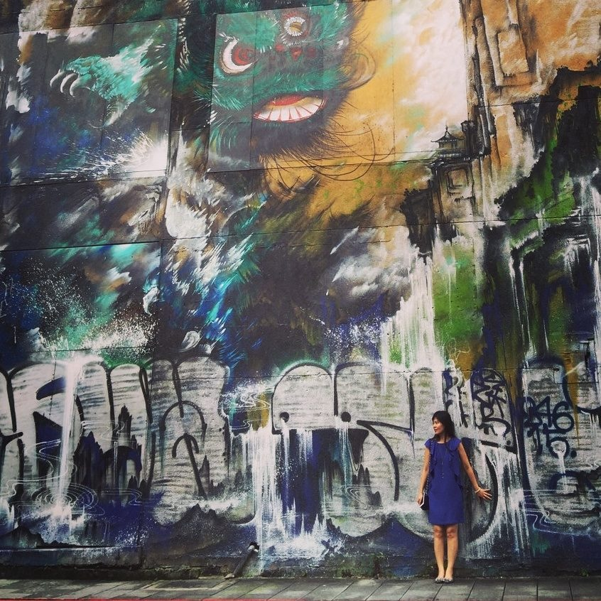 Graffiti wall in the streets of Taipei by Teresa Wang