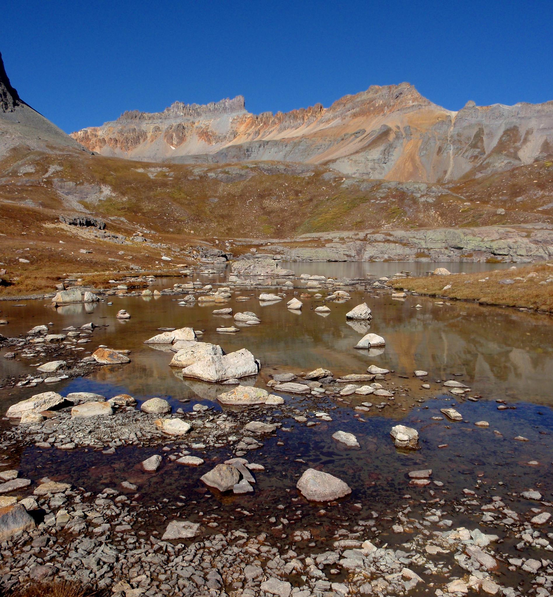 Photo in Landscape #colorado #rocky mountains #blue water #lake #ice lake basin