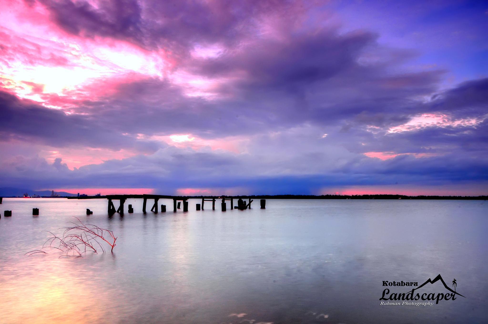 pink sunset by rachman