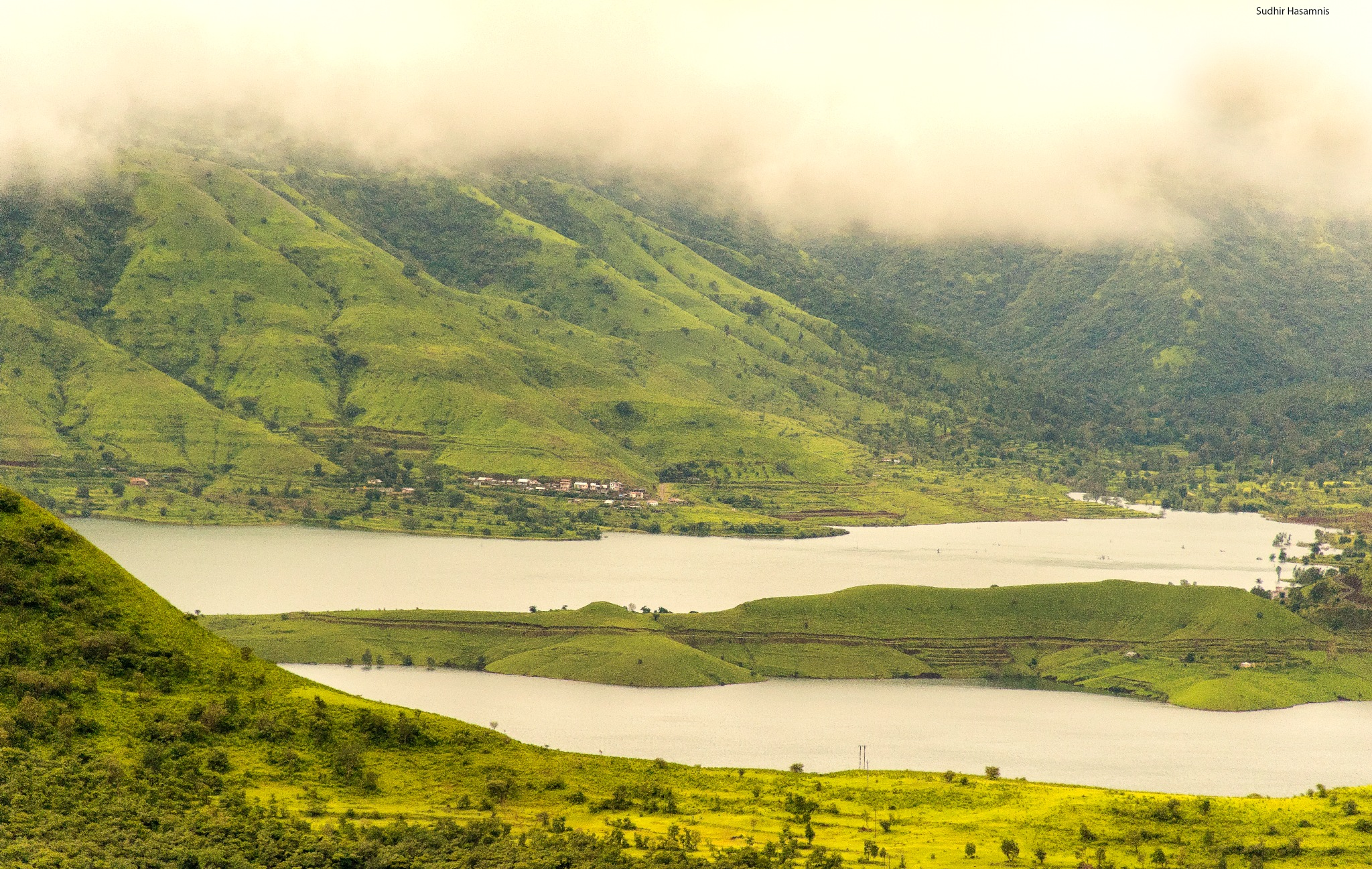 Twin Lakes on Foggy morning by DrSudhir Hasamnis