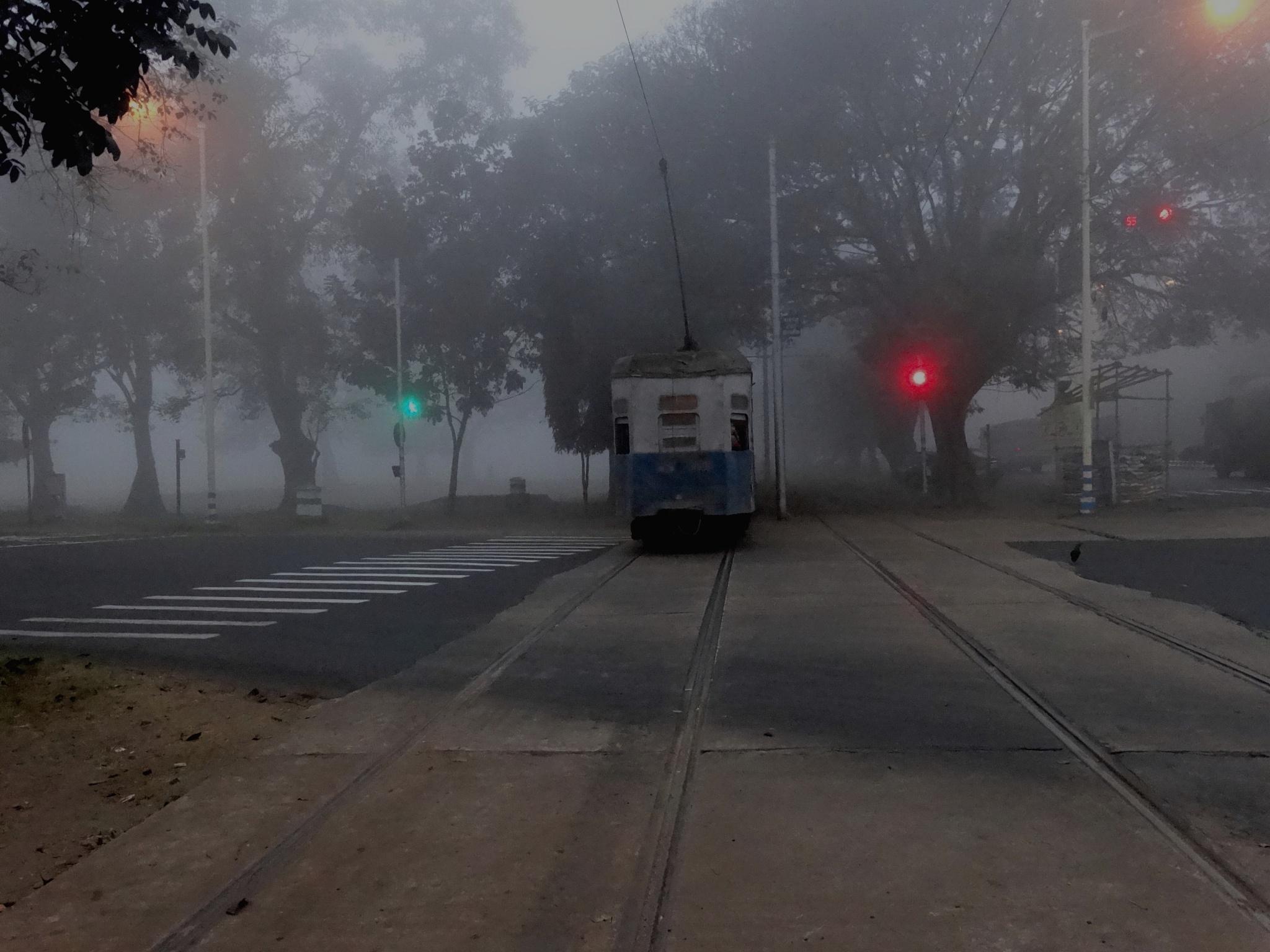 Early morning Tram... by Gautam Tarafder