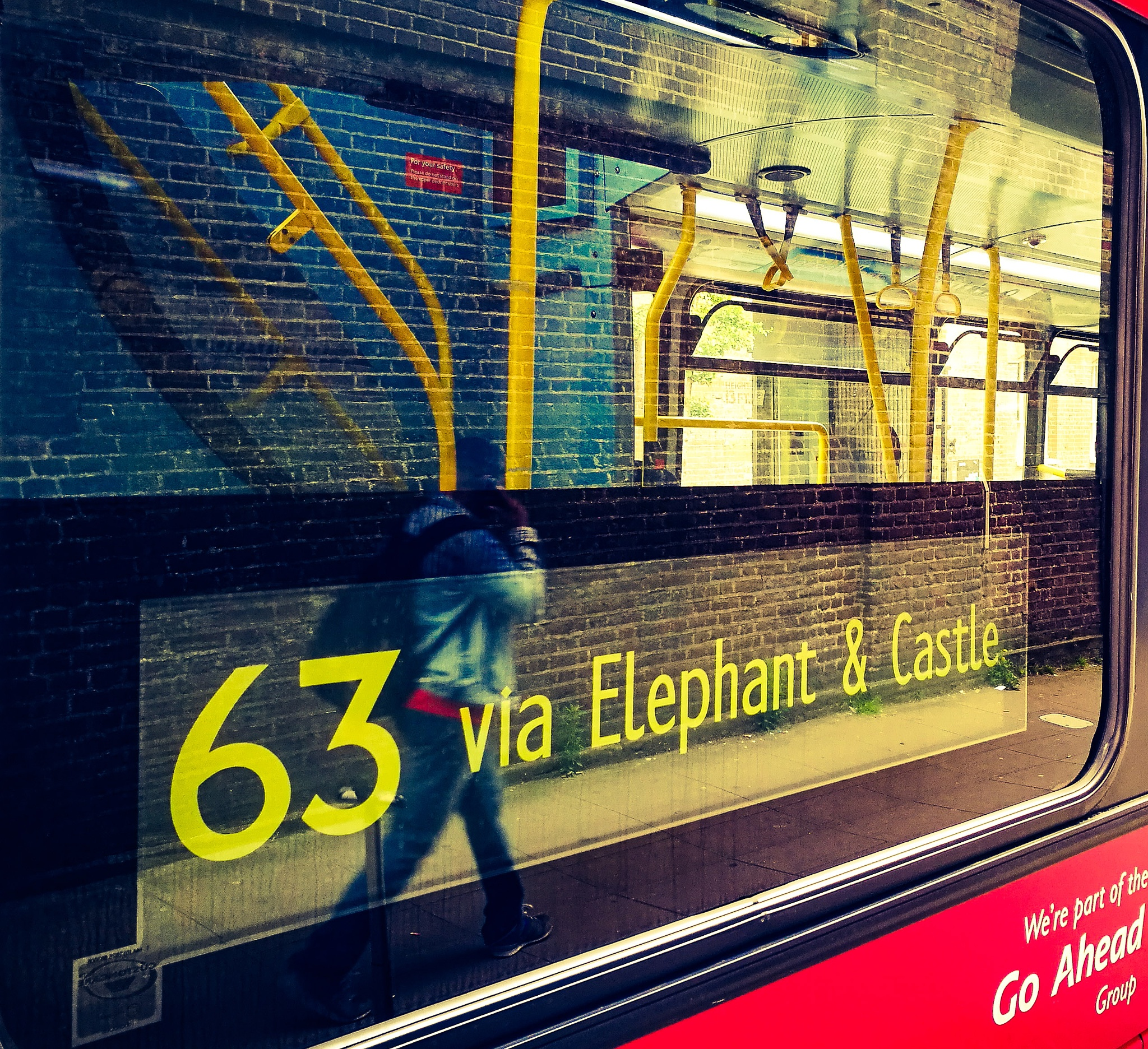 Reflecting on the iconic London bus  by robthebruce38
