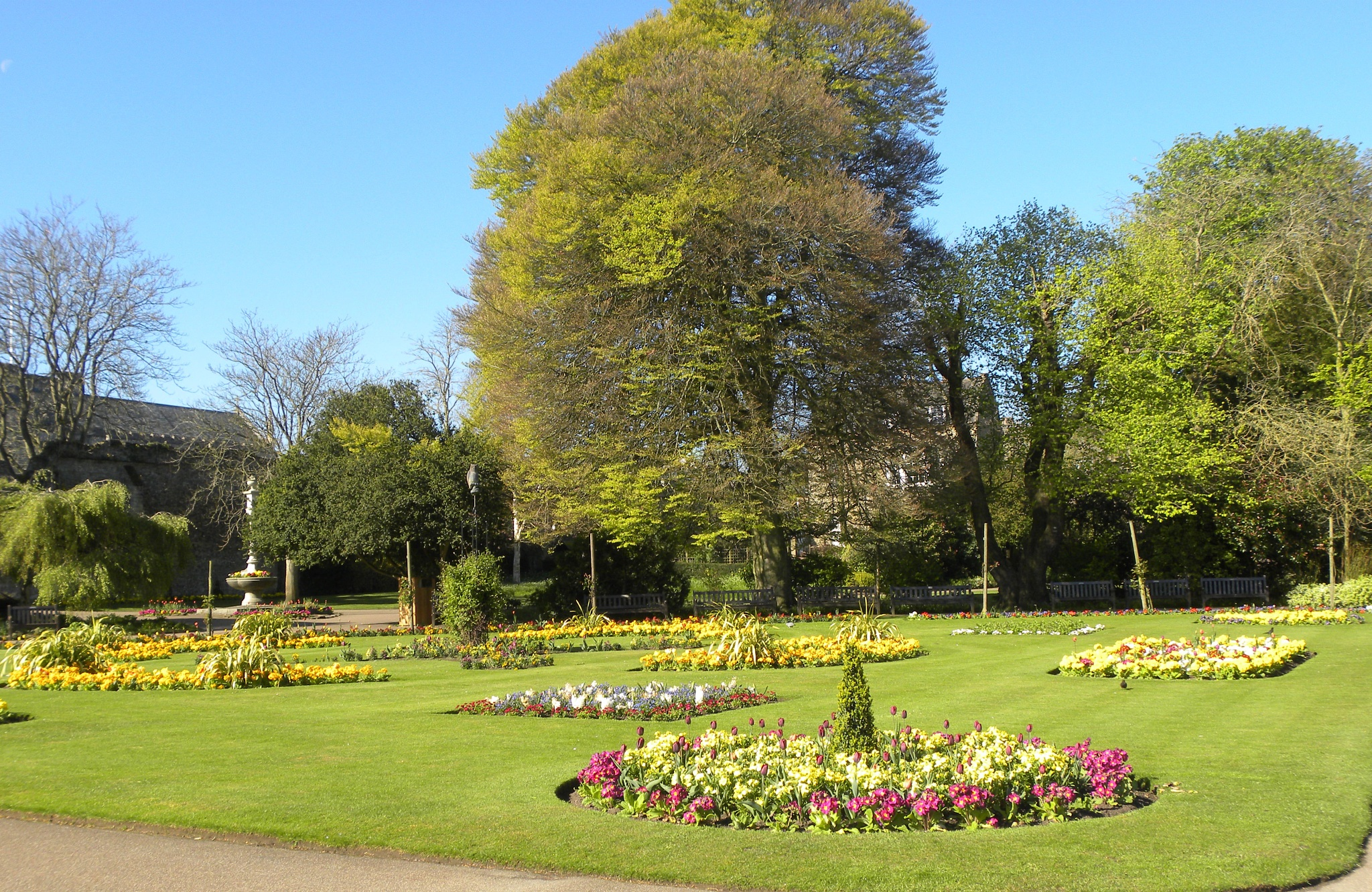 Photo in Landscape #flowers #plants #trees #park #abbey #suffolk #public #garden #gardening