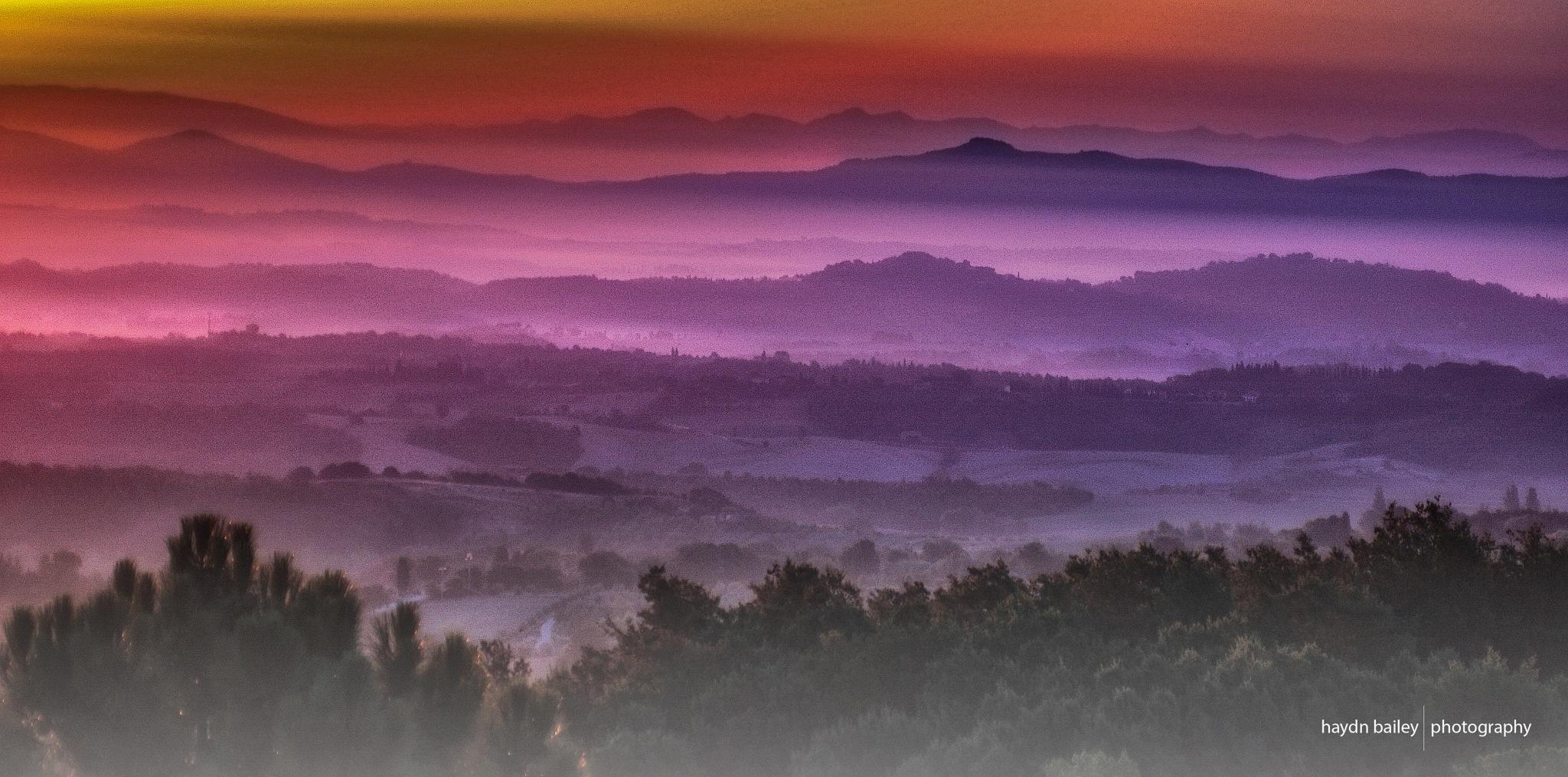 Tuscan mist. by Haydn Bailey