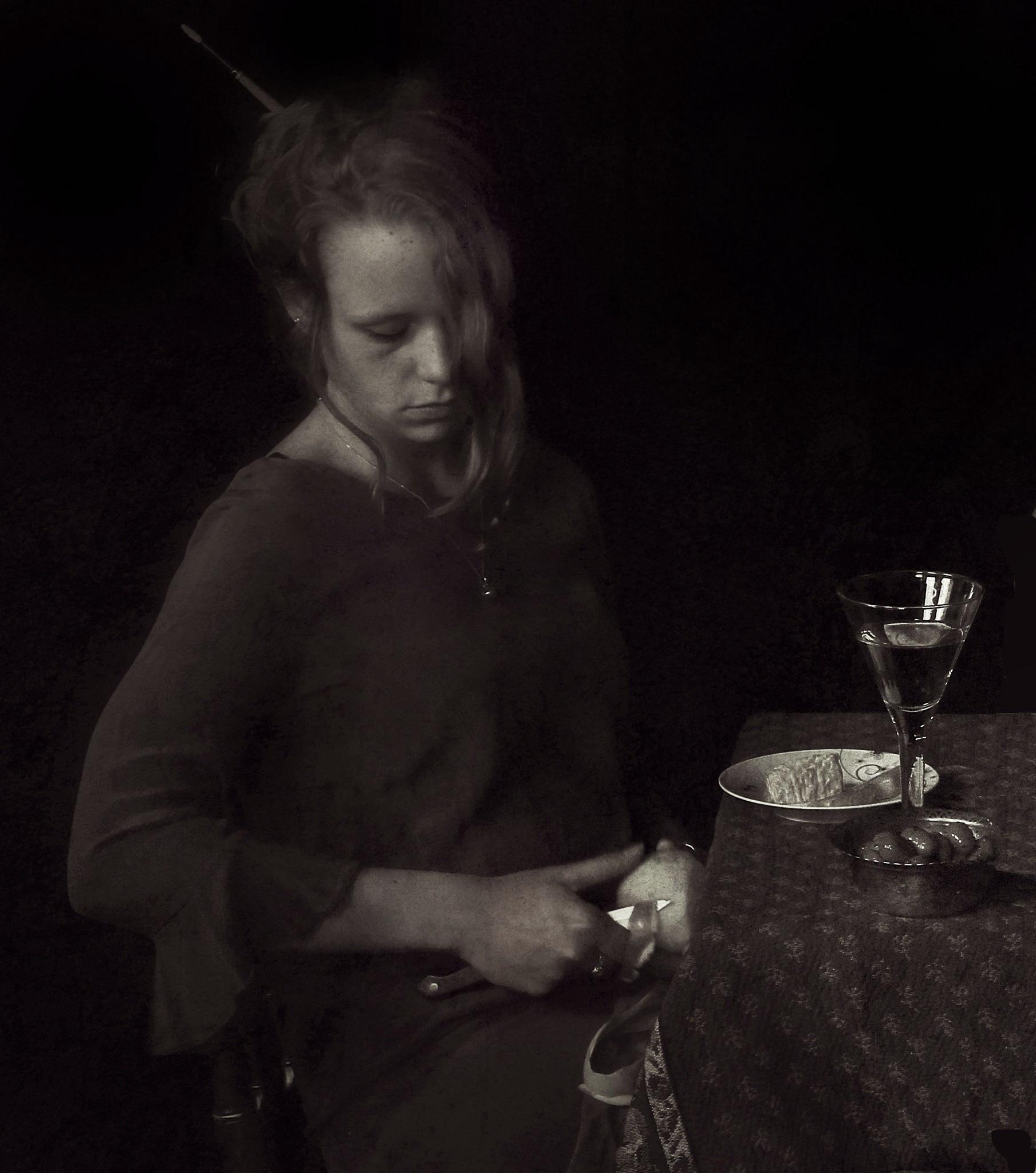 Jeune fille à table by IgorBglik