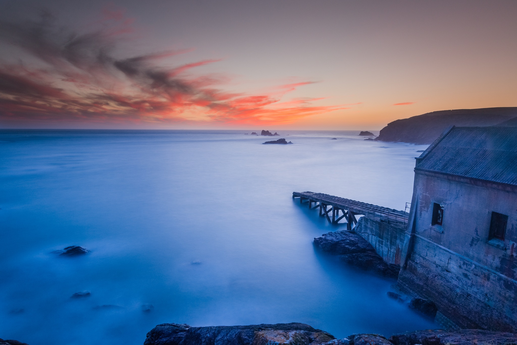 Sunset at Lizard Point by moley67