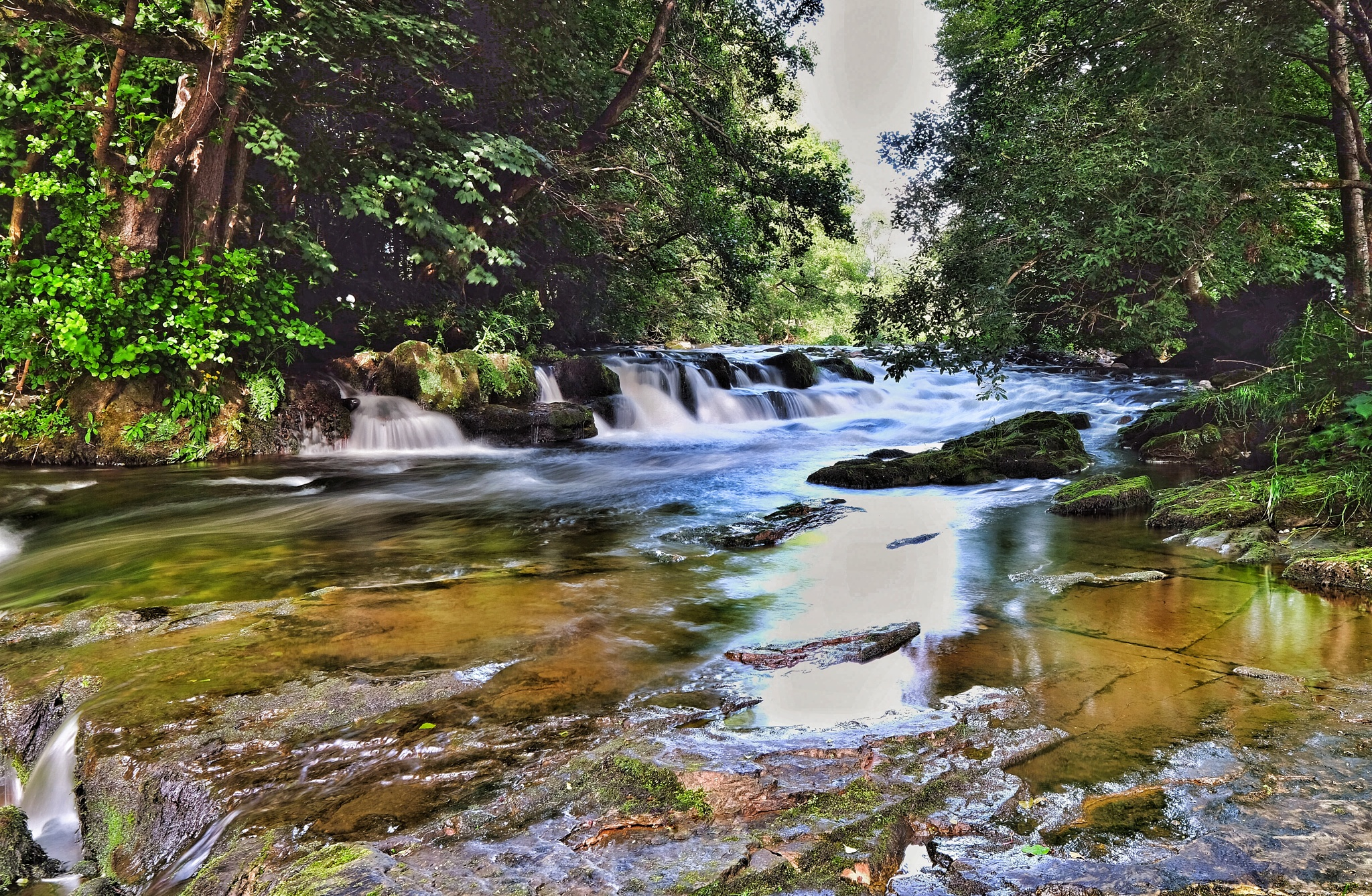 Small falls on the River Lowther by Steve Randles