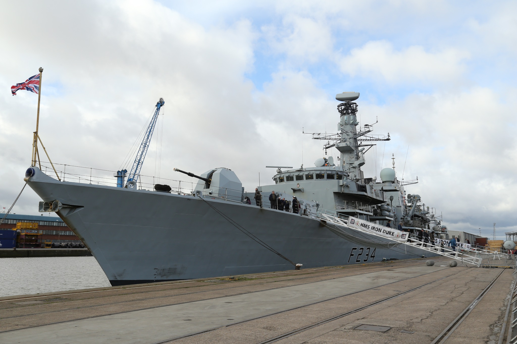 HMS IRON LADY in Hull docks this weekend by Petehudson