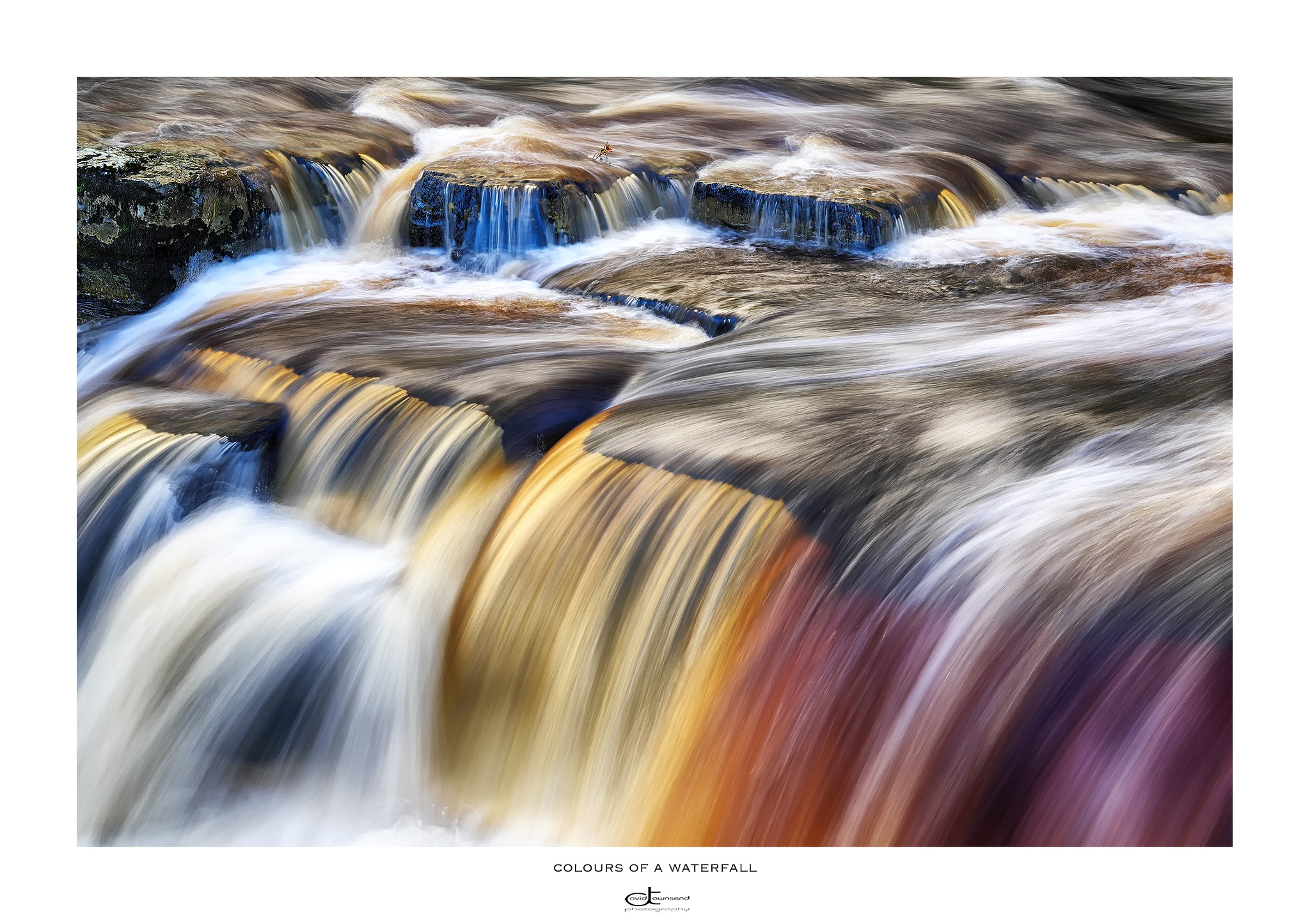 Colours of a Waterfall  by David Townsend
