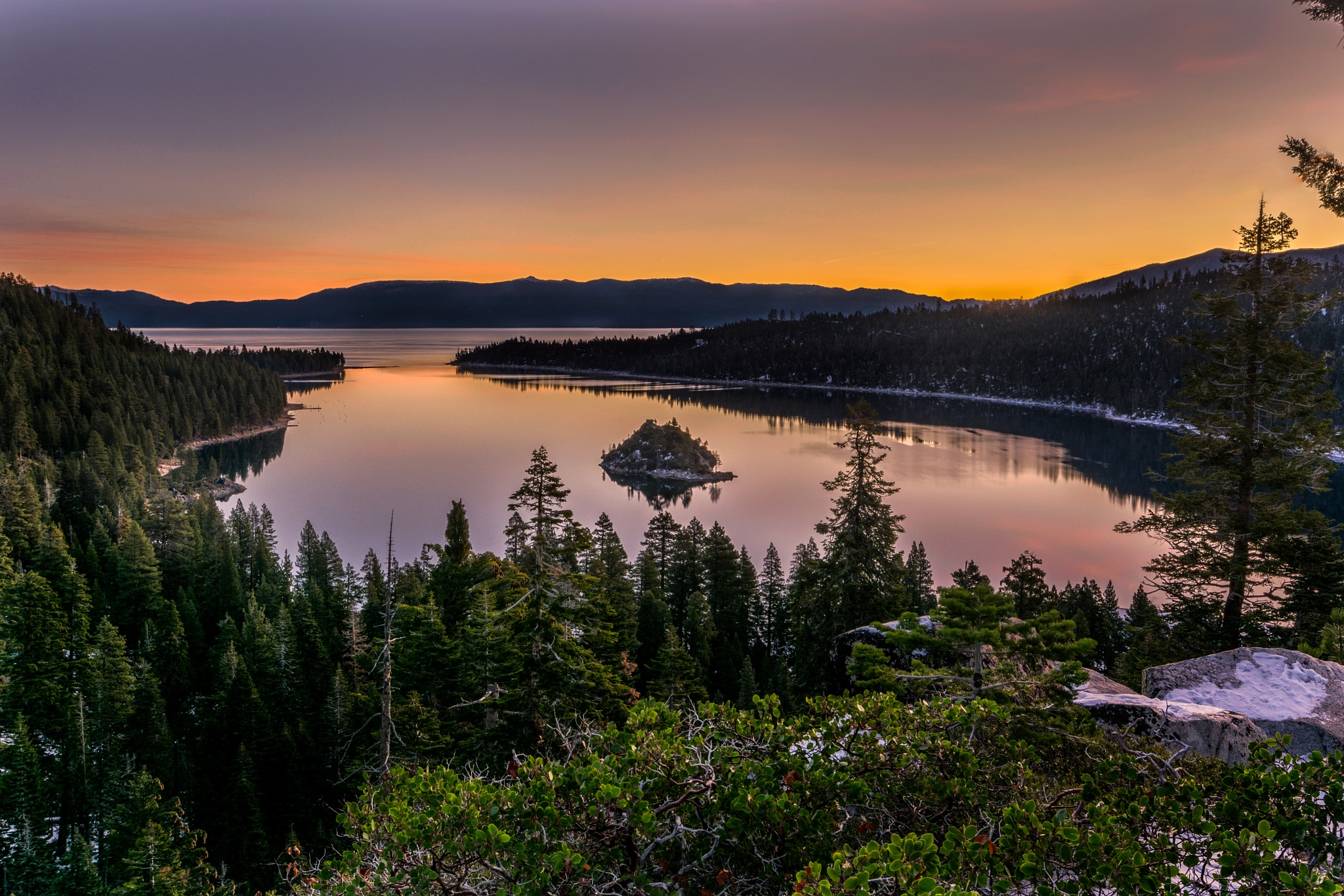 Emerald Bay At Sunrise by Robert Schmalle