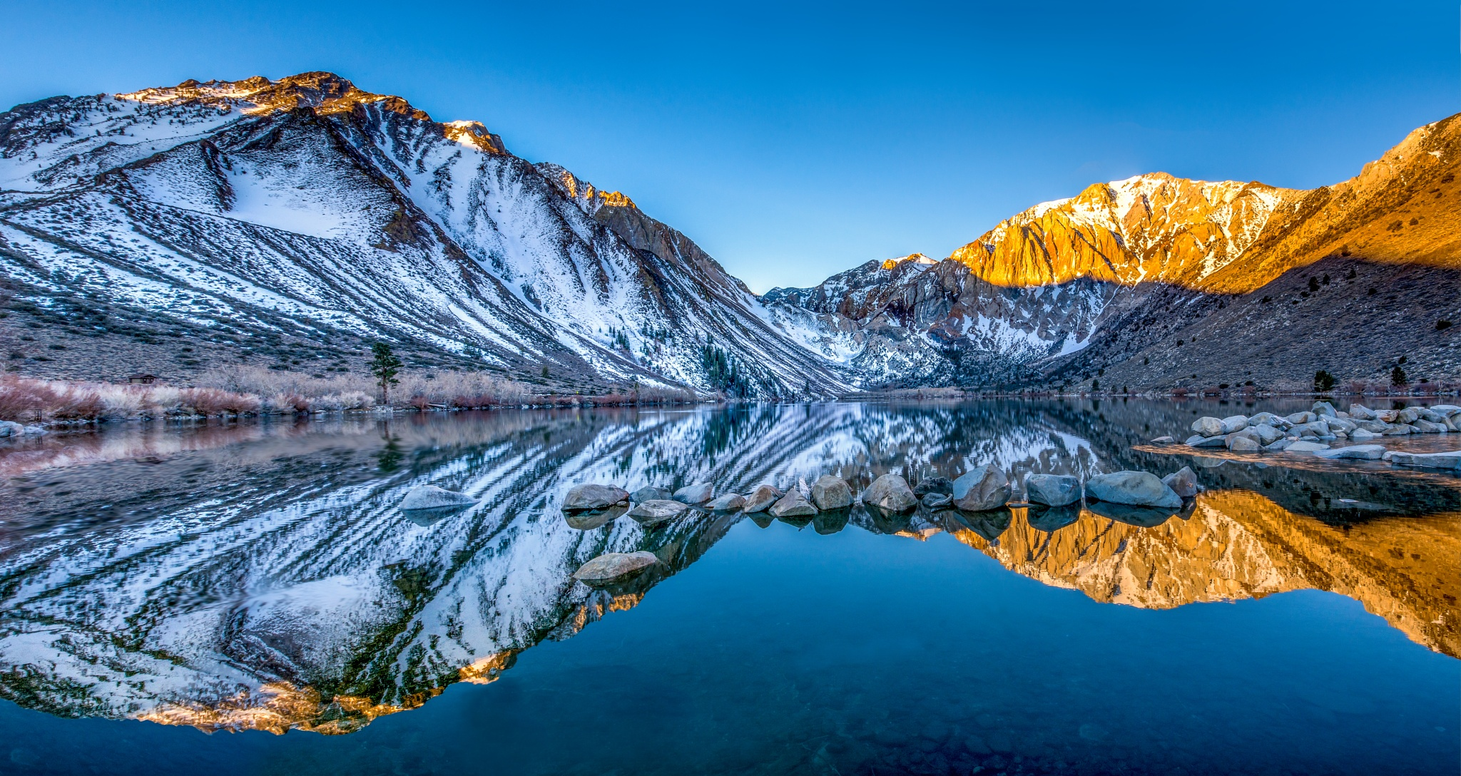 Peaceful Morning On Convict Lake by Robert Schmalle