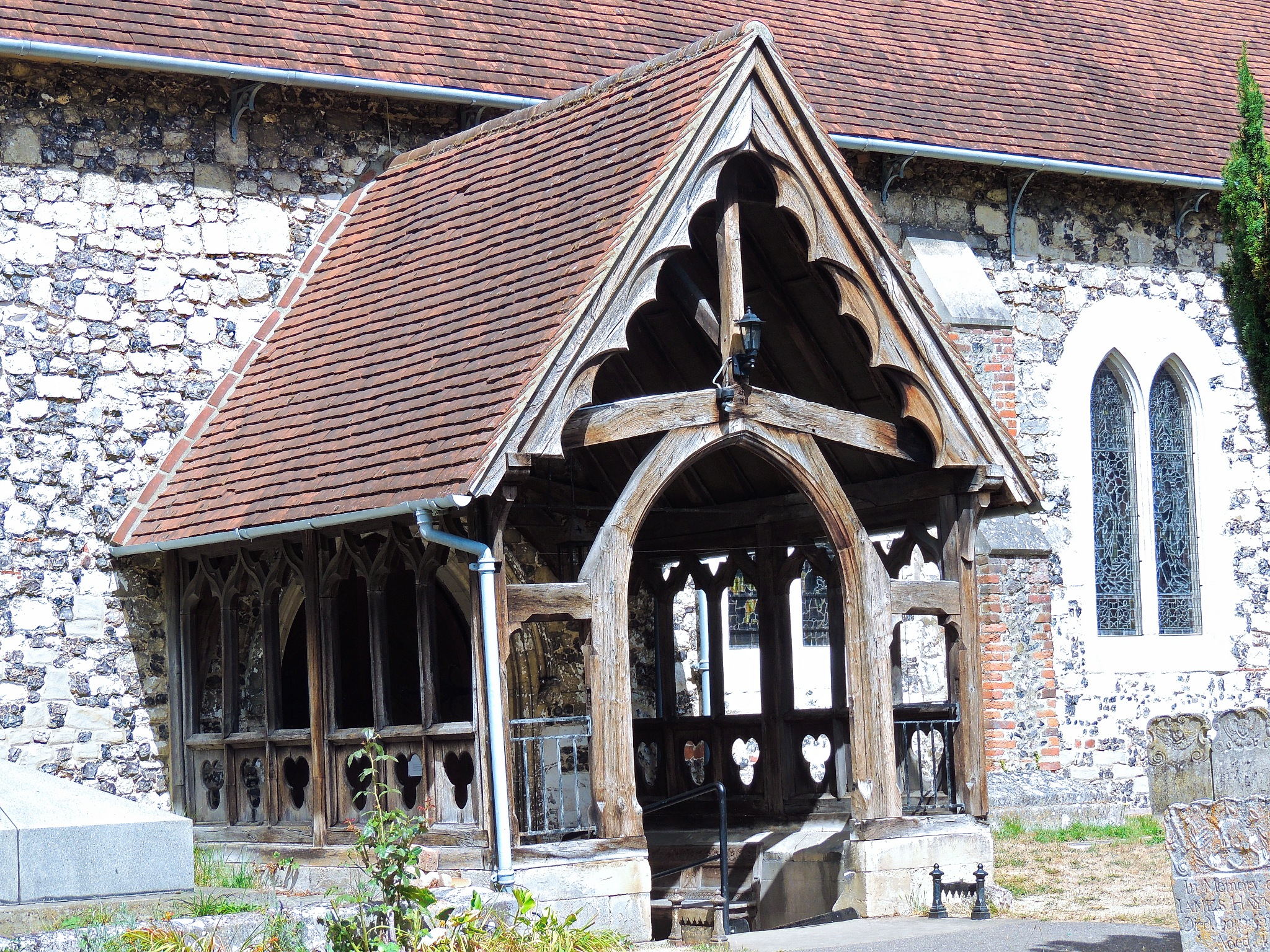 Church entrance by David Wagner