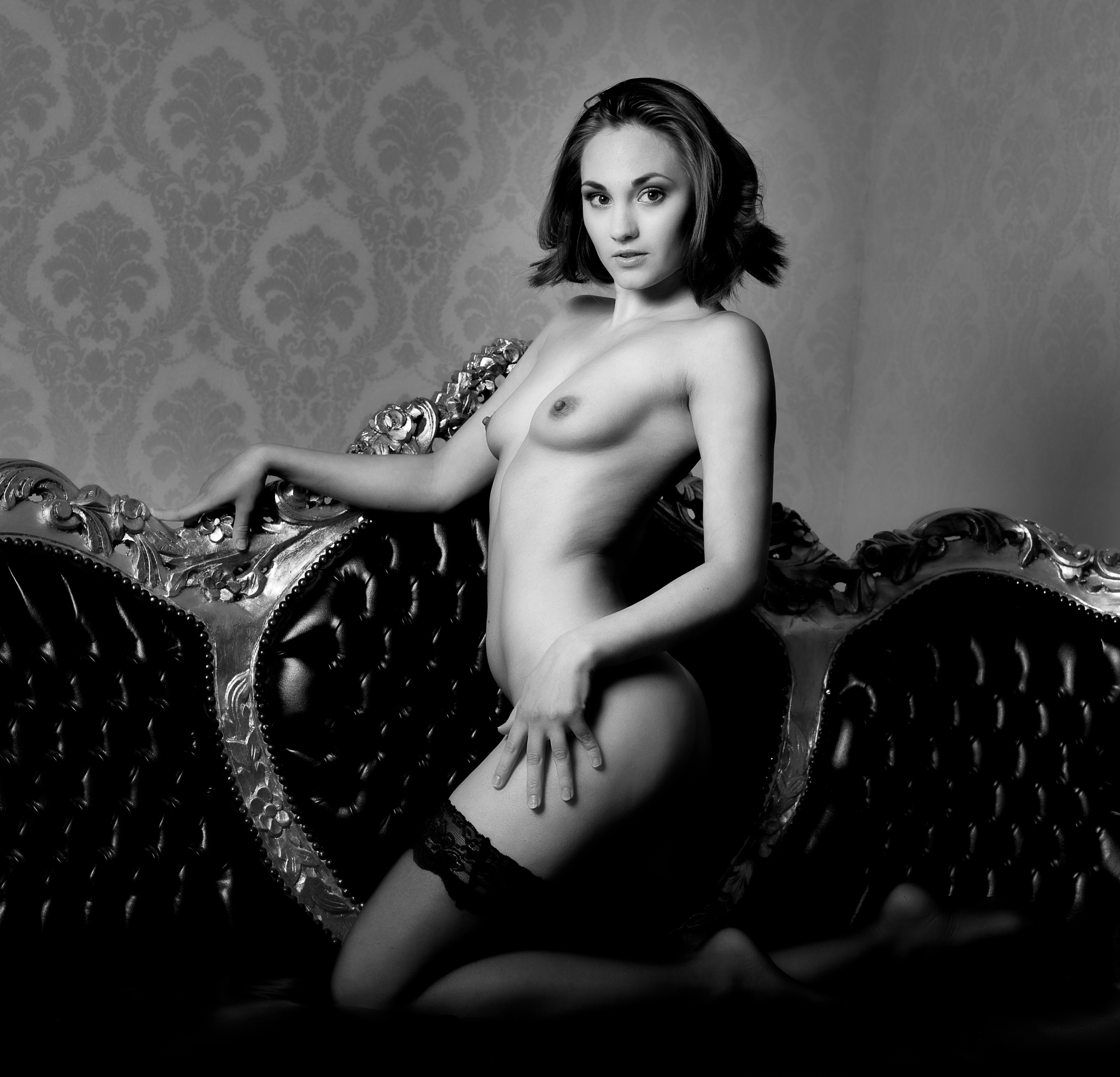 Photo in Nude #black and white #nude #breasts #small breasts