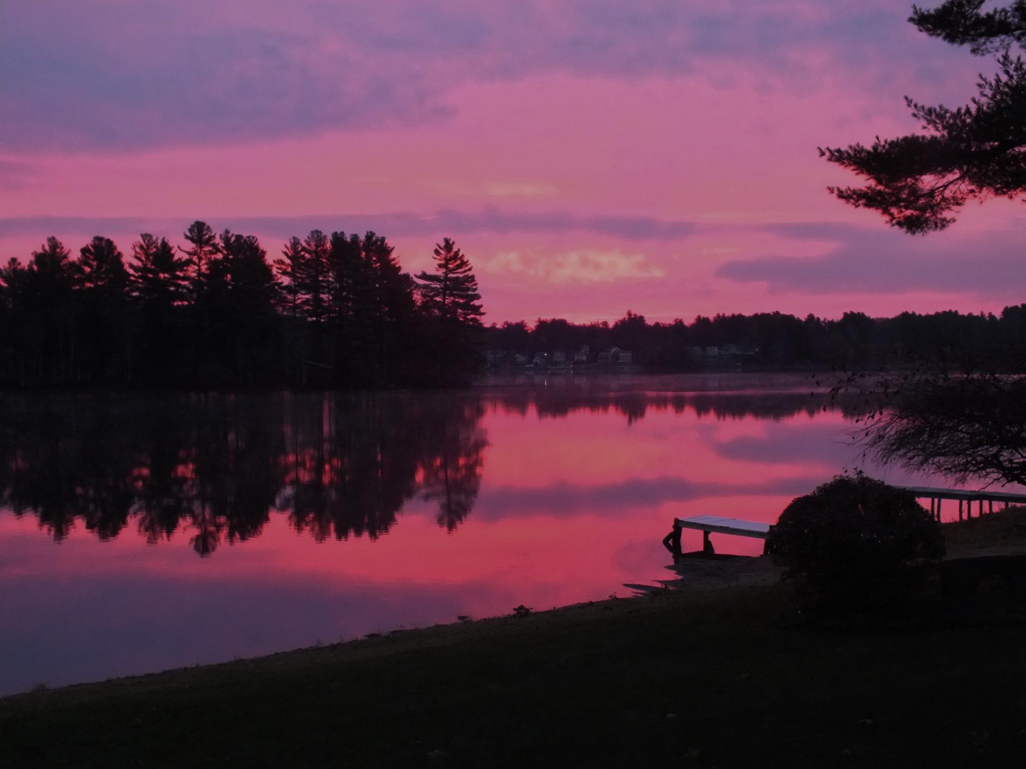 Sunrise Lake Lashaway, North Brookfield, Massachusetts by John B. Nurek