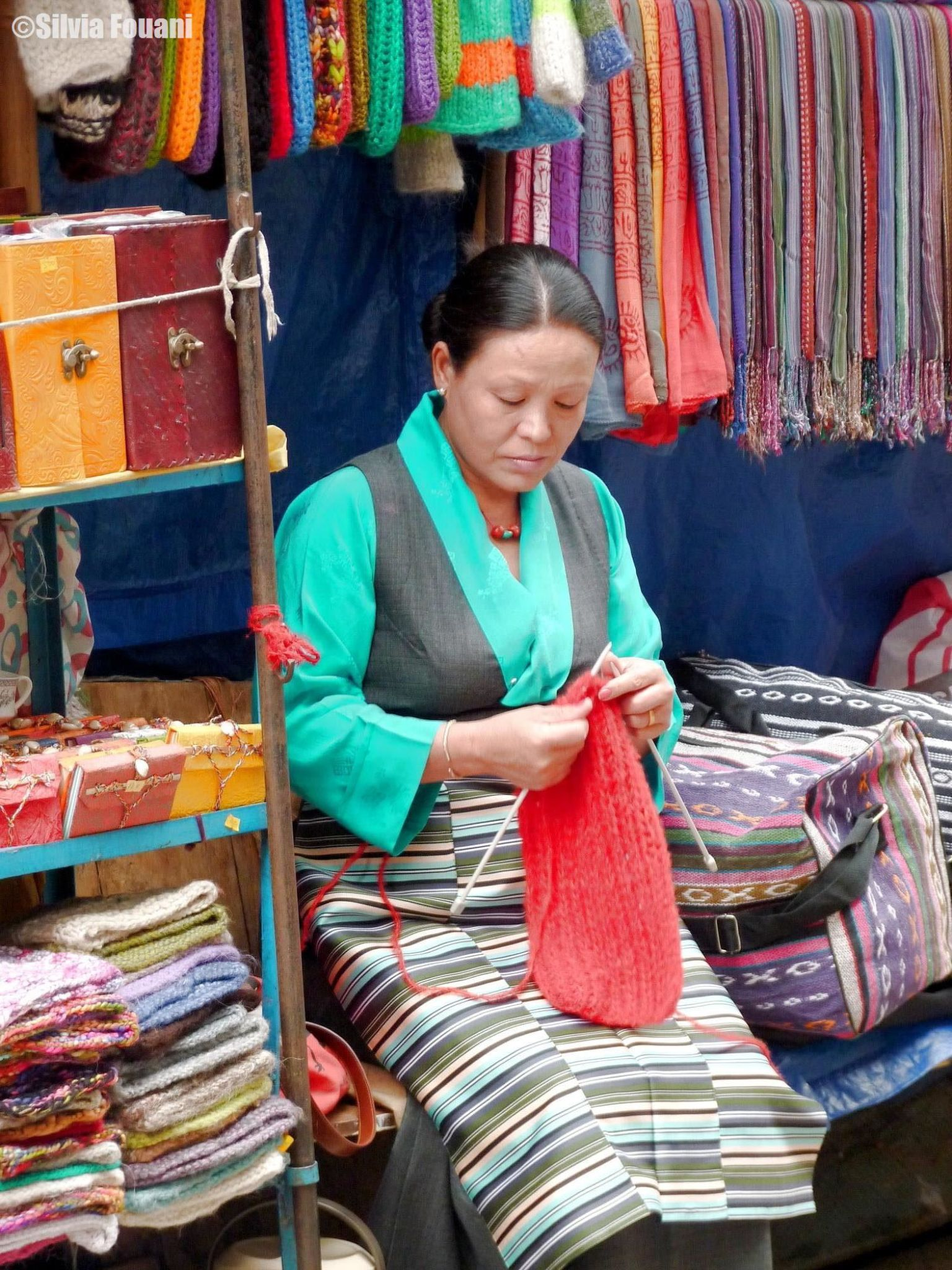 Tibetan woman, Mcleodganj by SilviaPhotos