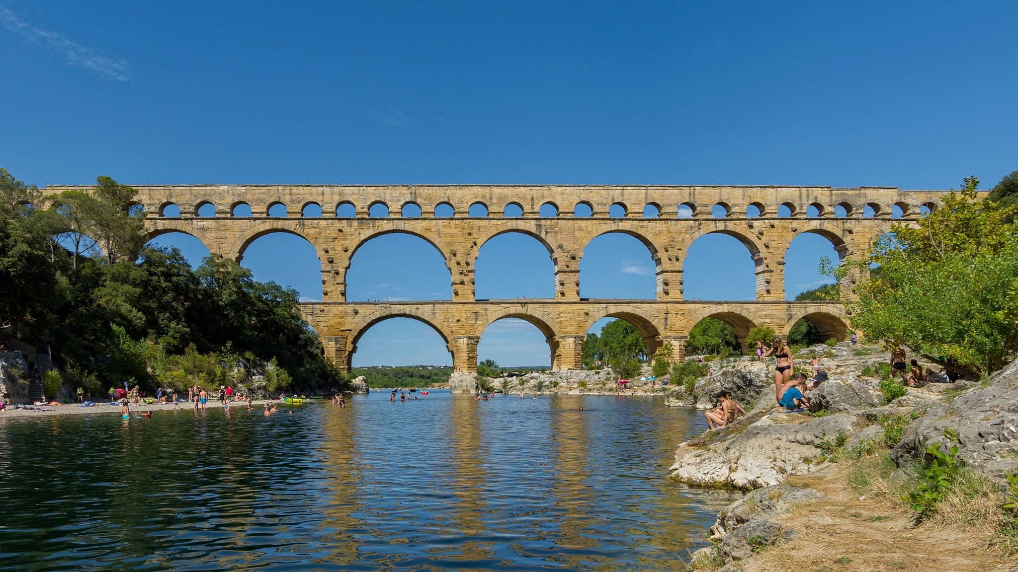 Pont Du Gard Reflections by Awende