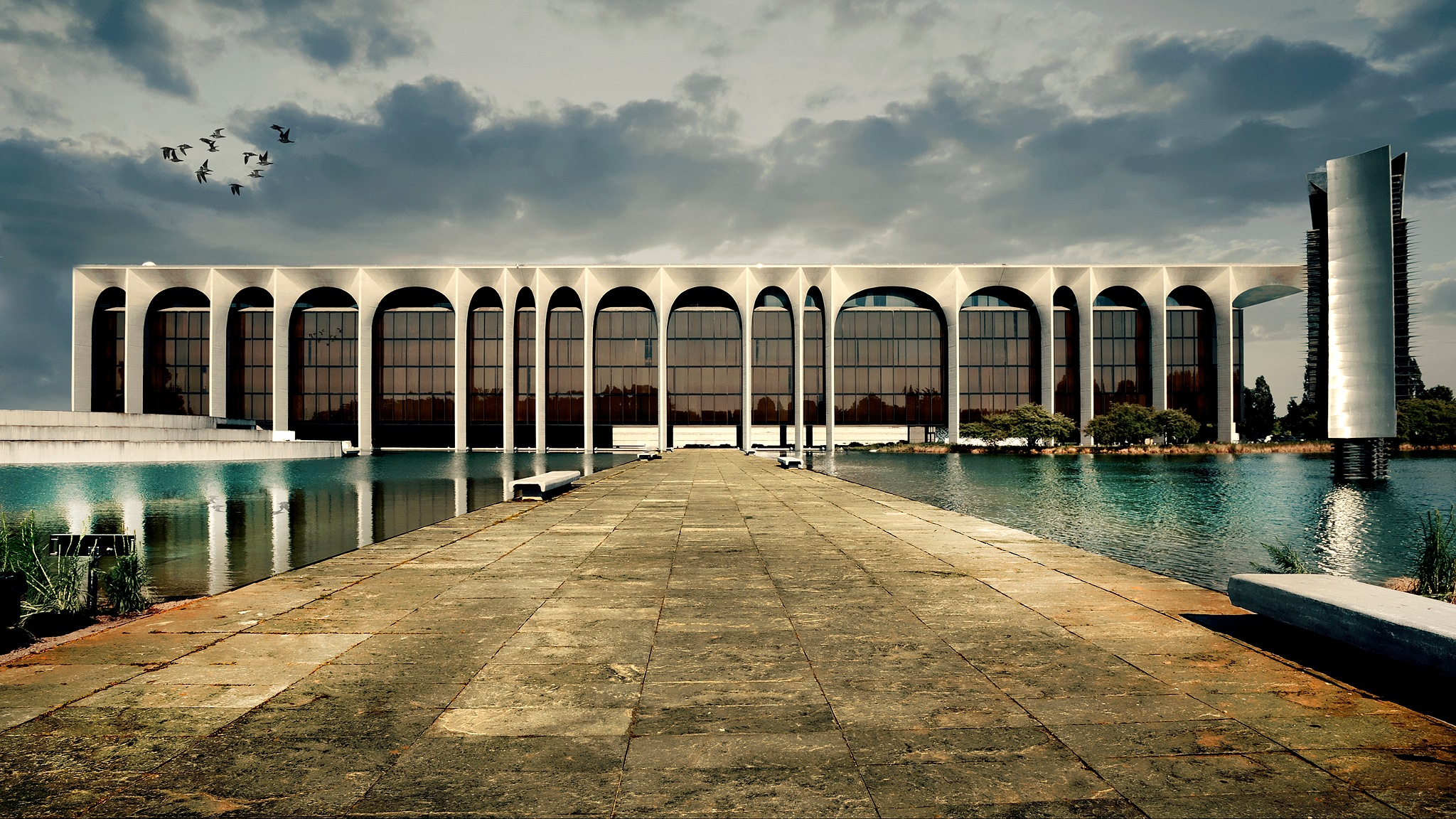 Niemeyer building, with a little imagination by Roberto Macrì