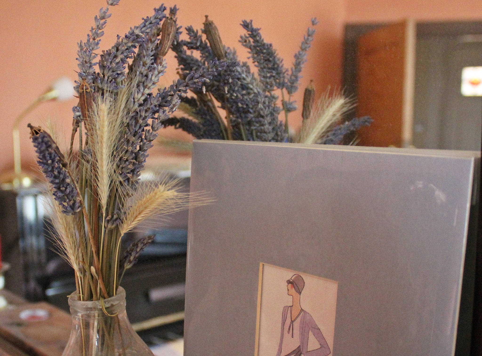 lavender and lady - colour by Jane Rue