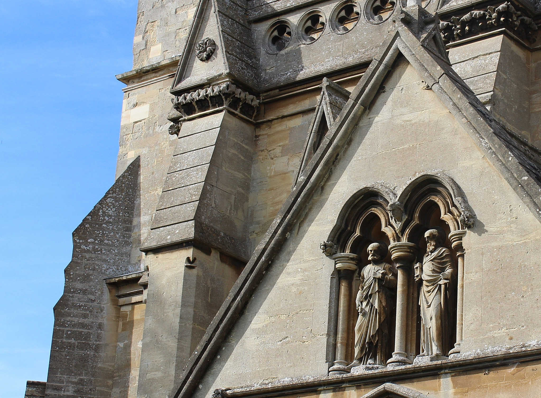 blue sky and church detail in Buckingham by Jane Rue