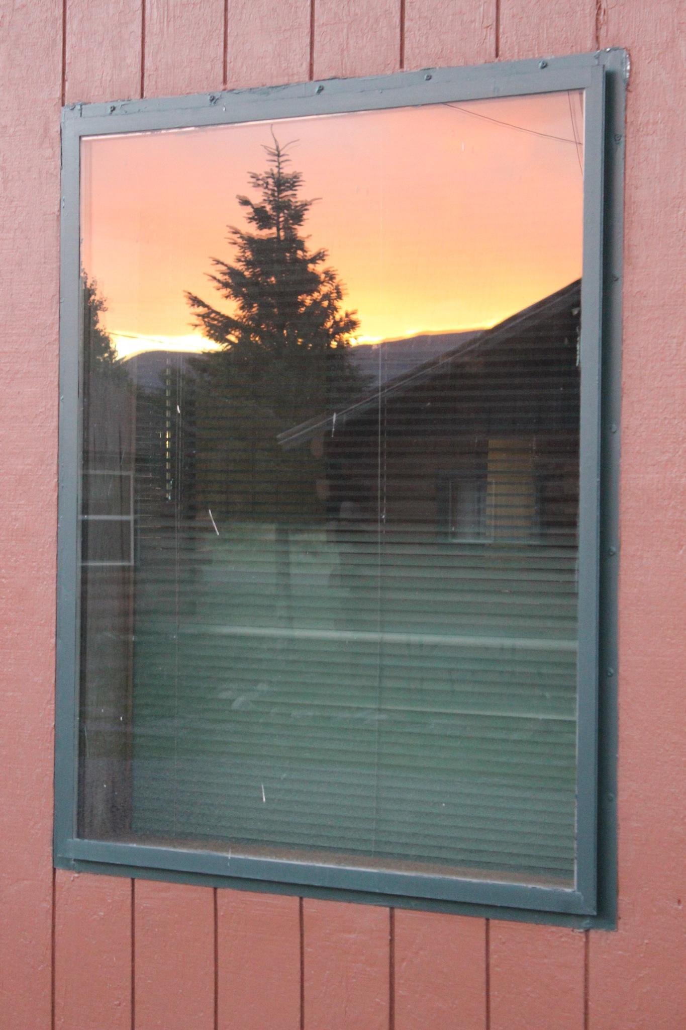 Framed Sunset by Lynda Clayton