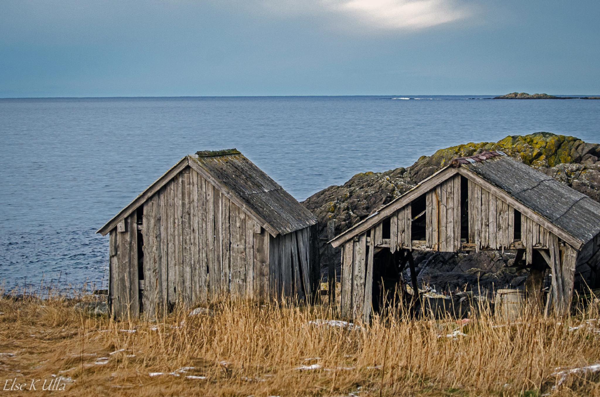 Old Boathouses by Else Ulla